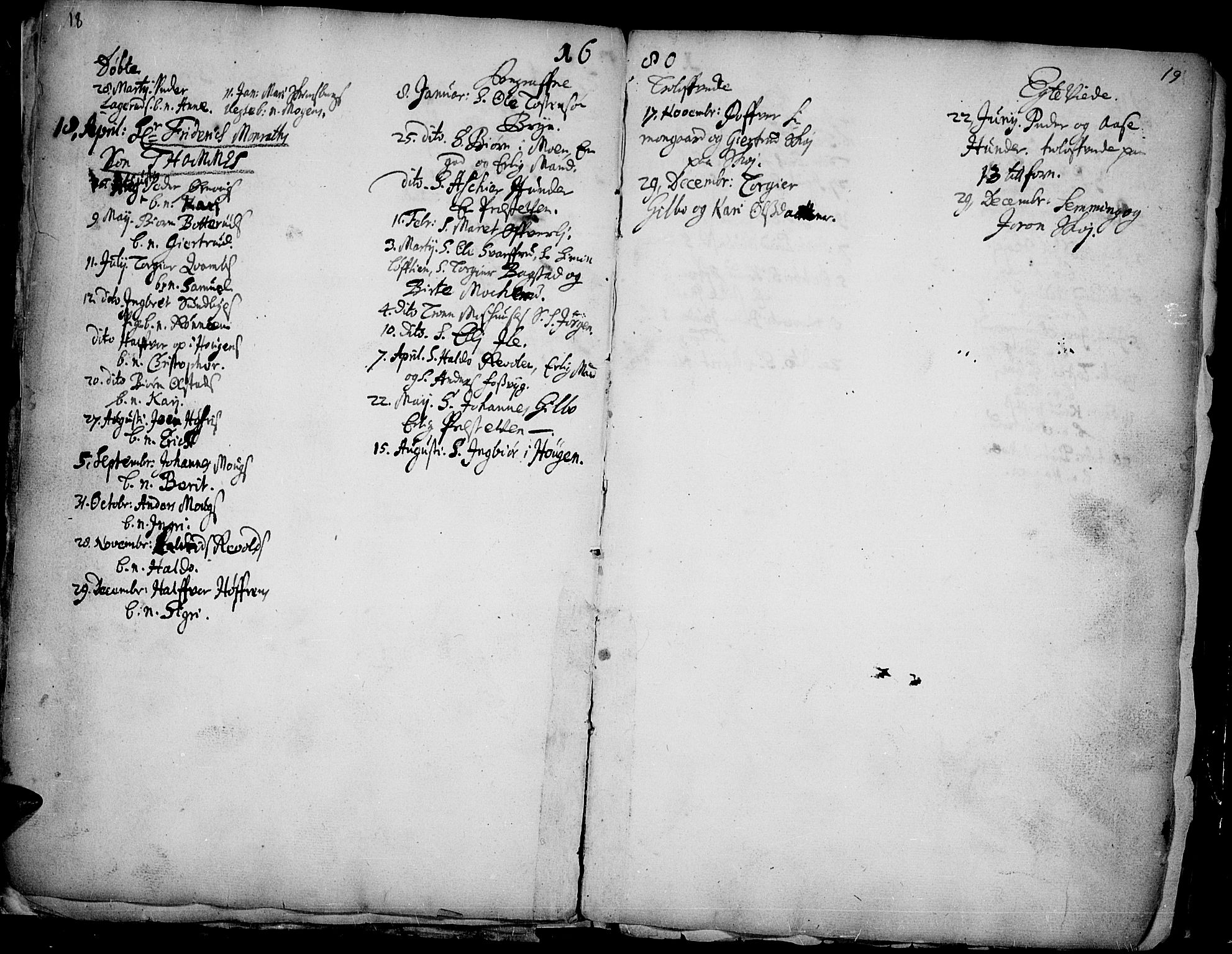 SAH, Øyer prestekontor, Ministerialbok nr. 1, 1671-1727, s. 18-19