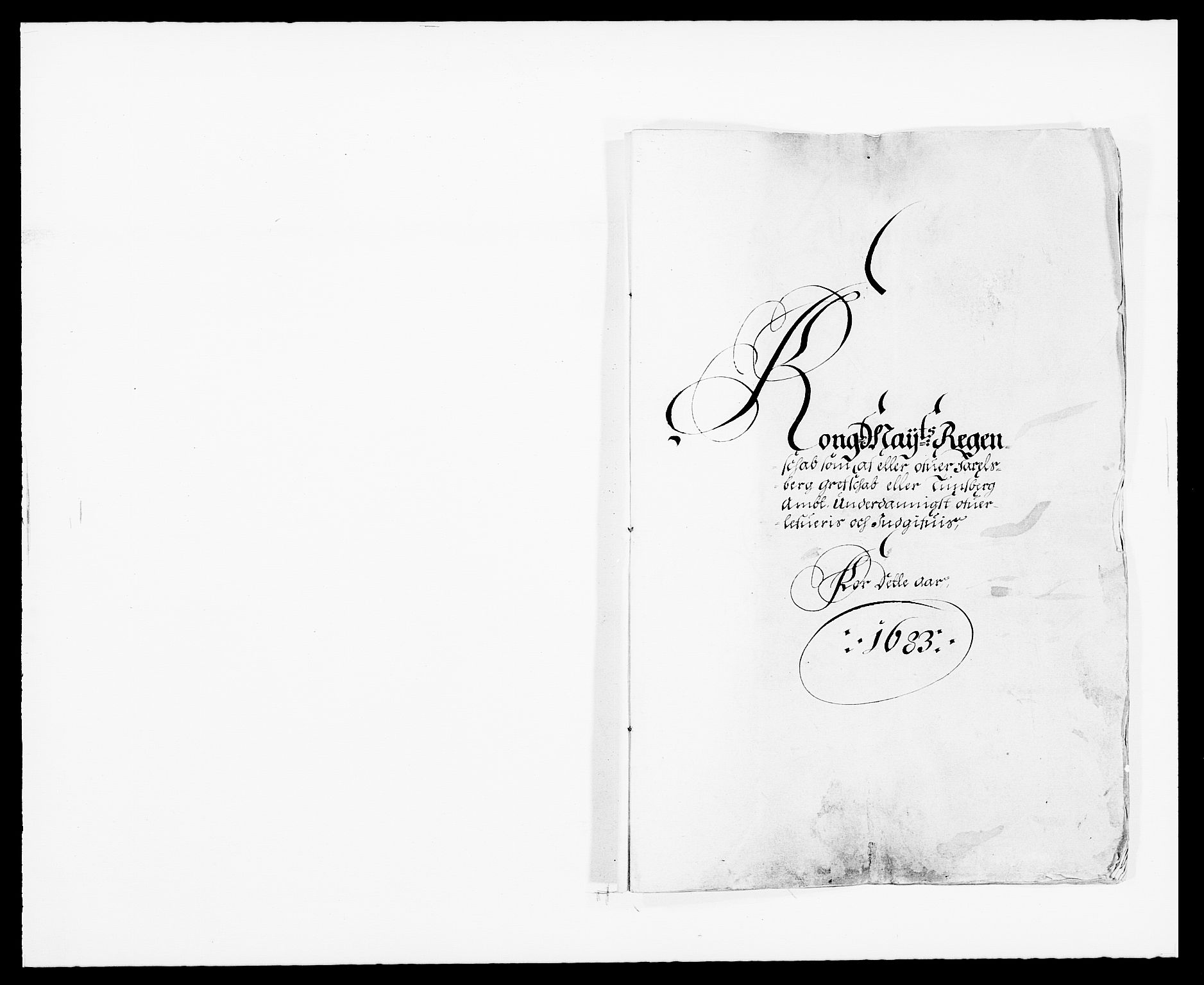 RA, Rentekammeret inntil 1814, Reviderte regnskaper, Fogderegnskap, R32/L1852: Fogderegnskap Jarlsberg grevskap, 1683, s. 1
