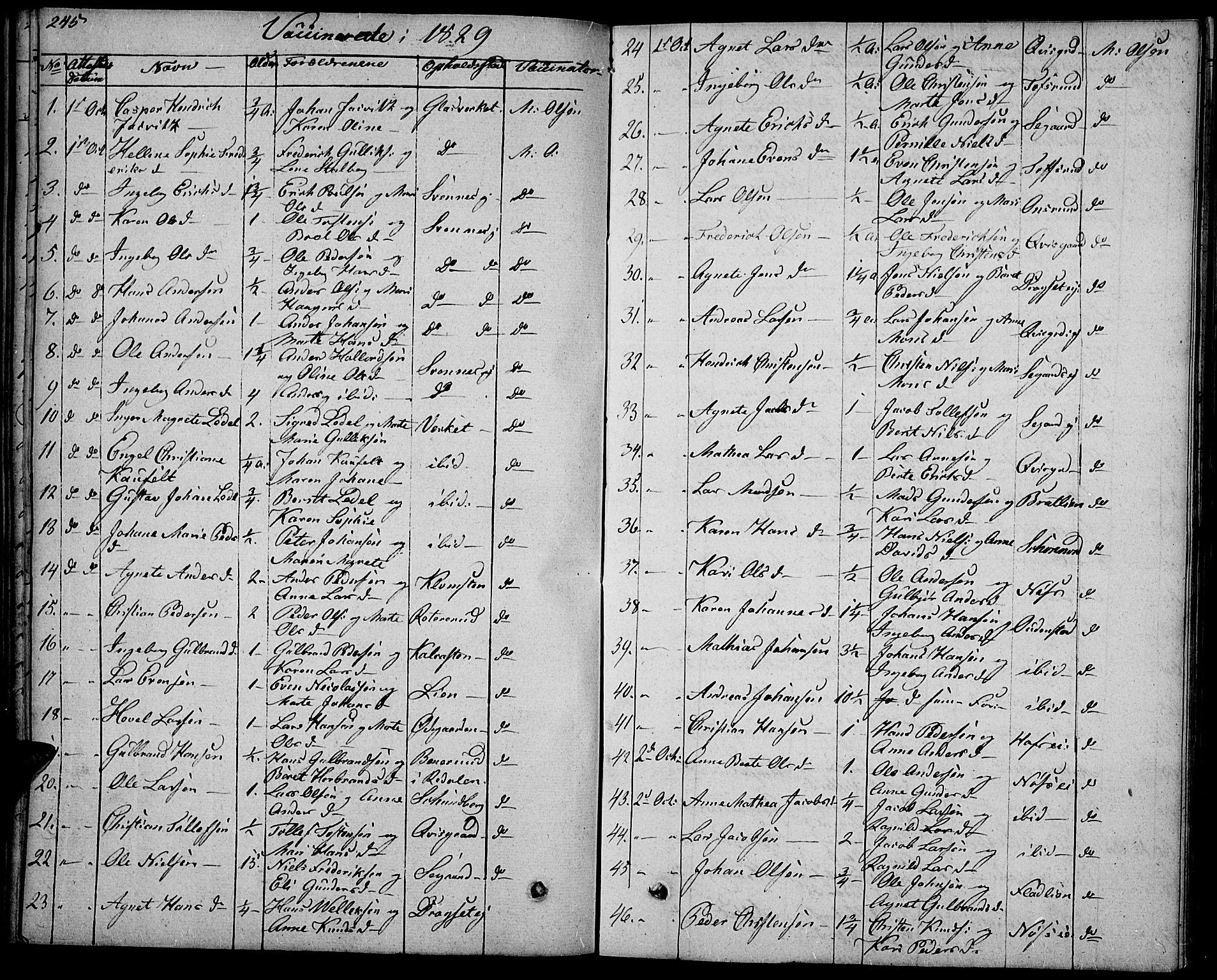 SAH, Biri prestekontor, Ministerialbok nr. 4, 1829-1842, s. 245