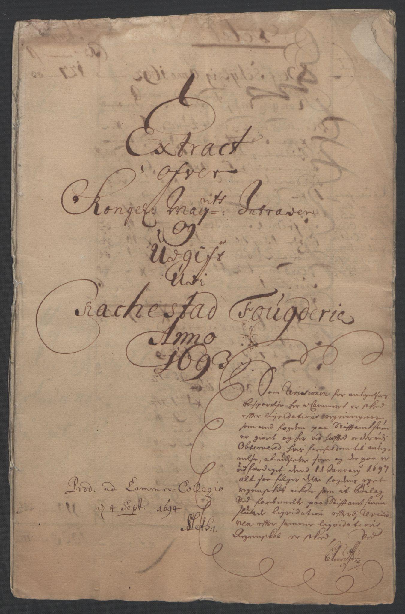 RA, Rentekammeret inntil 1814, Reviderte regnskaper, Fogderegnskap, R05/L0278: Fogderegnskap Rakkestad, 1691-1693, s. 346
