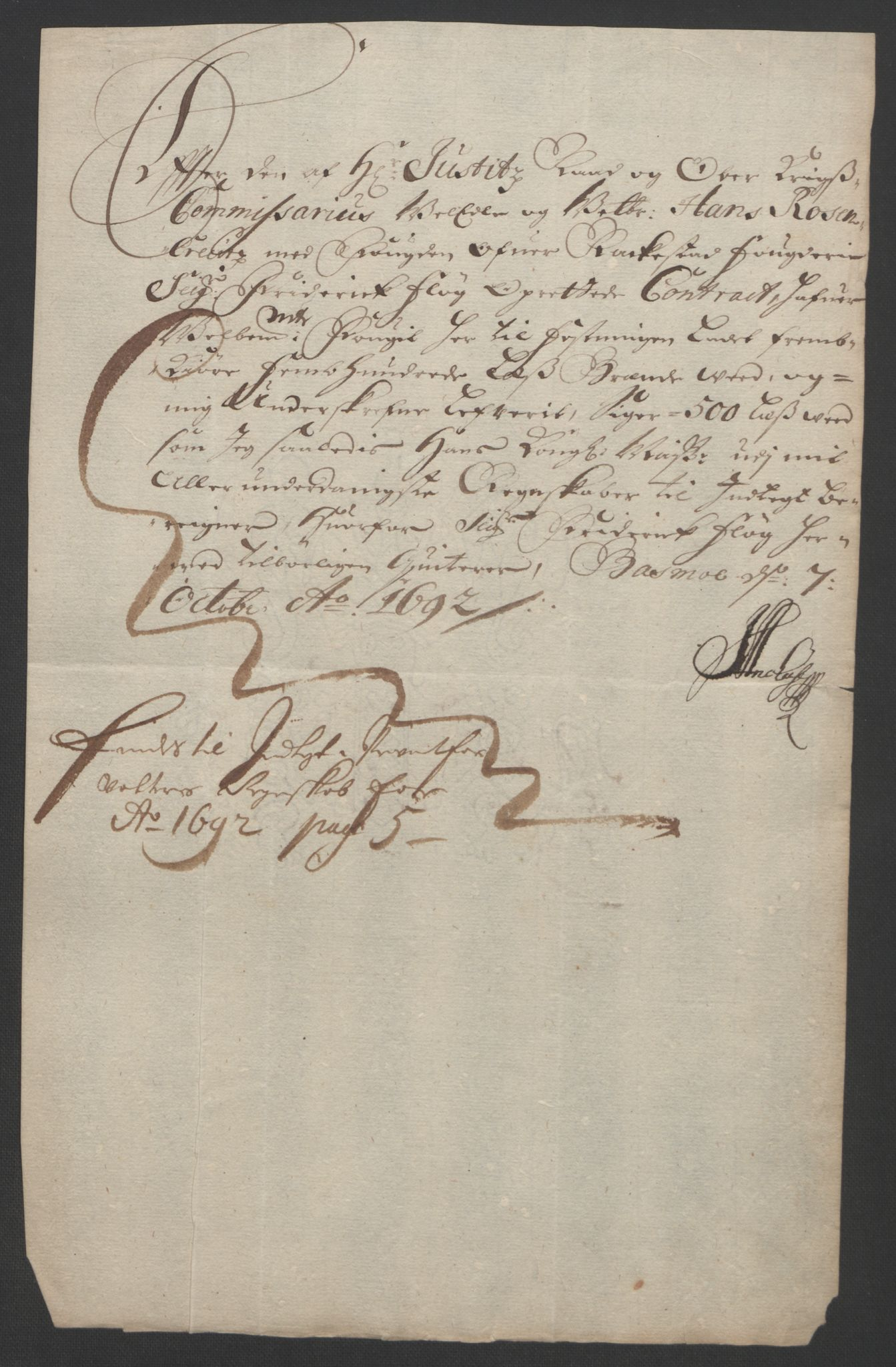 RA, Rentekammeret inntil 1814, Reviderte regnskaper, Fogderegnskap, R05/L0278: Fogderegnskap Rakkestad, 1691-1693, s. 340