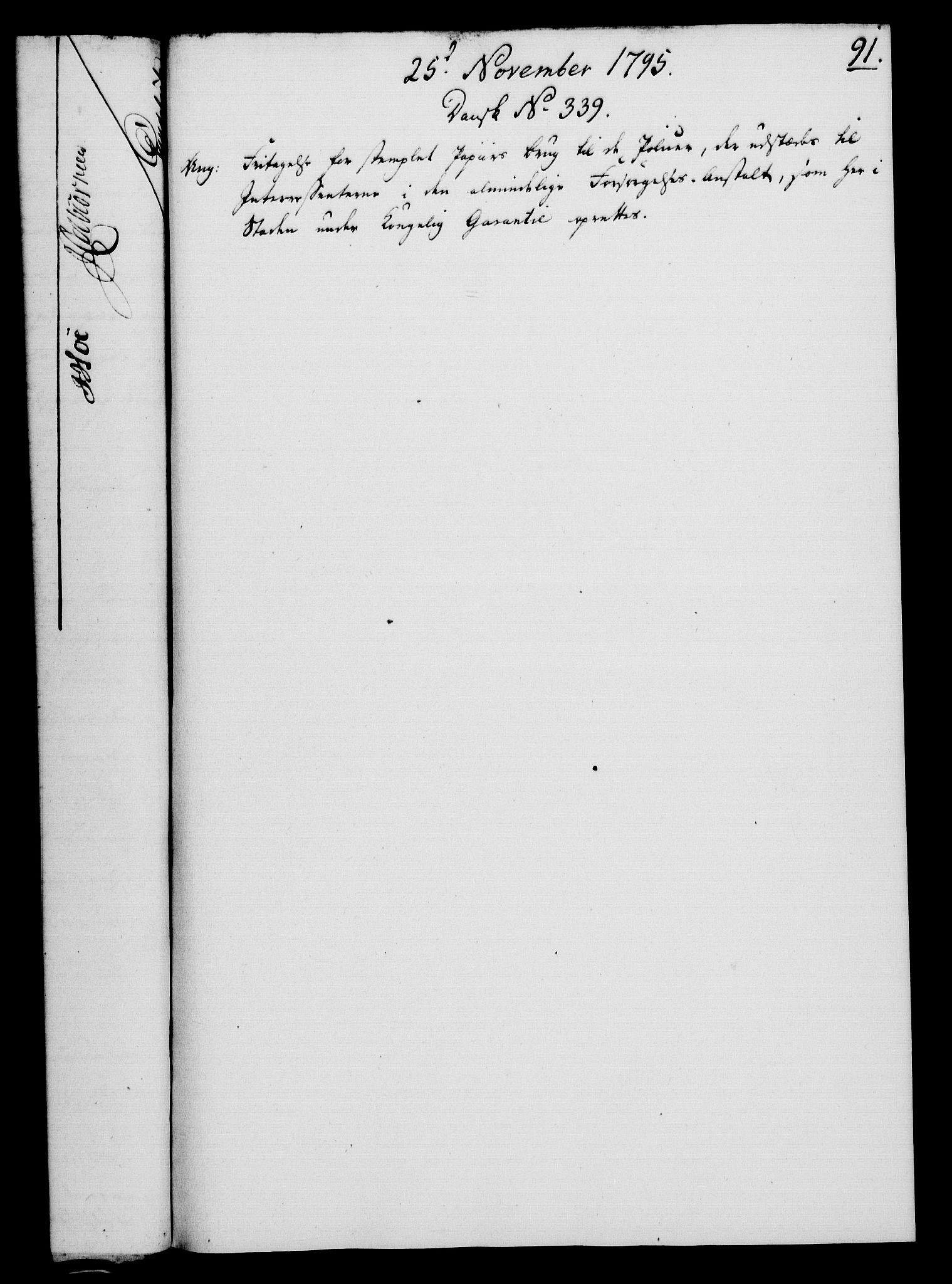 RA, Rentekammeret, Kammerkanselliet, G/Gf/Gfa/L0077: Norsk relasjons- og resolusjonsprotokoll (merket RK 52.77), 1795, s. 437