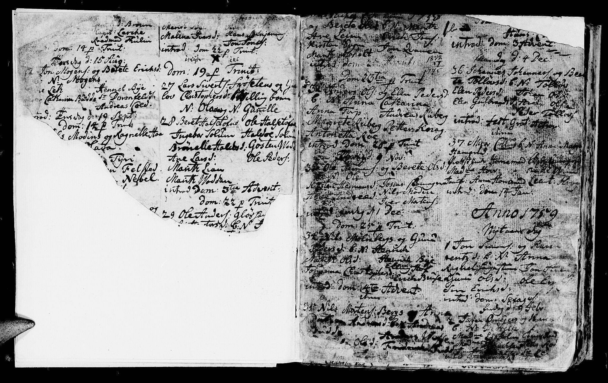 SAT, Ministerialprotokoller, klokkerbøker og fødselsregistre - Sør-Trøndelag, 604/L0218: Klokkerbok nr. 604C01, 1754-1819, s. 1b