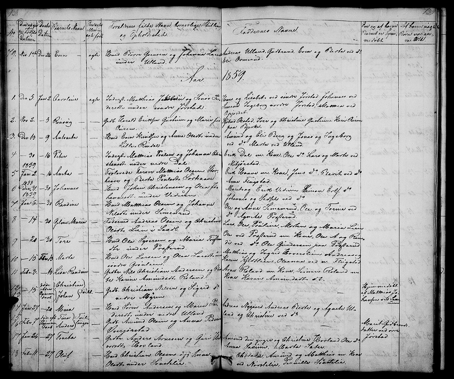 SAH, Fåberg prestekontor, Klokkerbok nr. 5, 1837-1864, s. 138-139