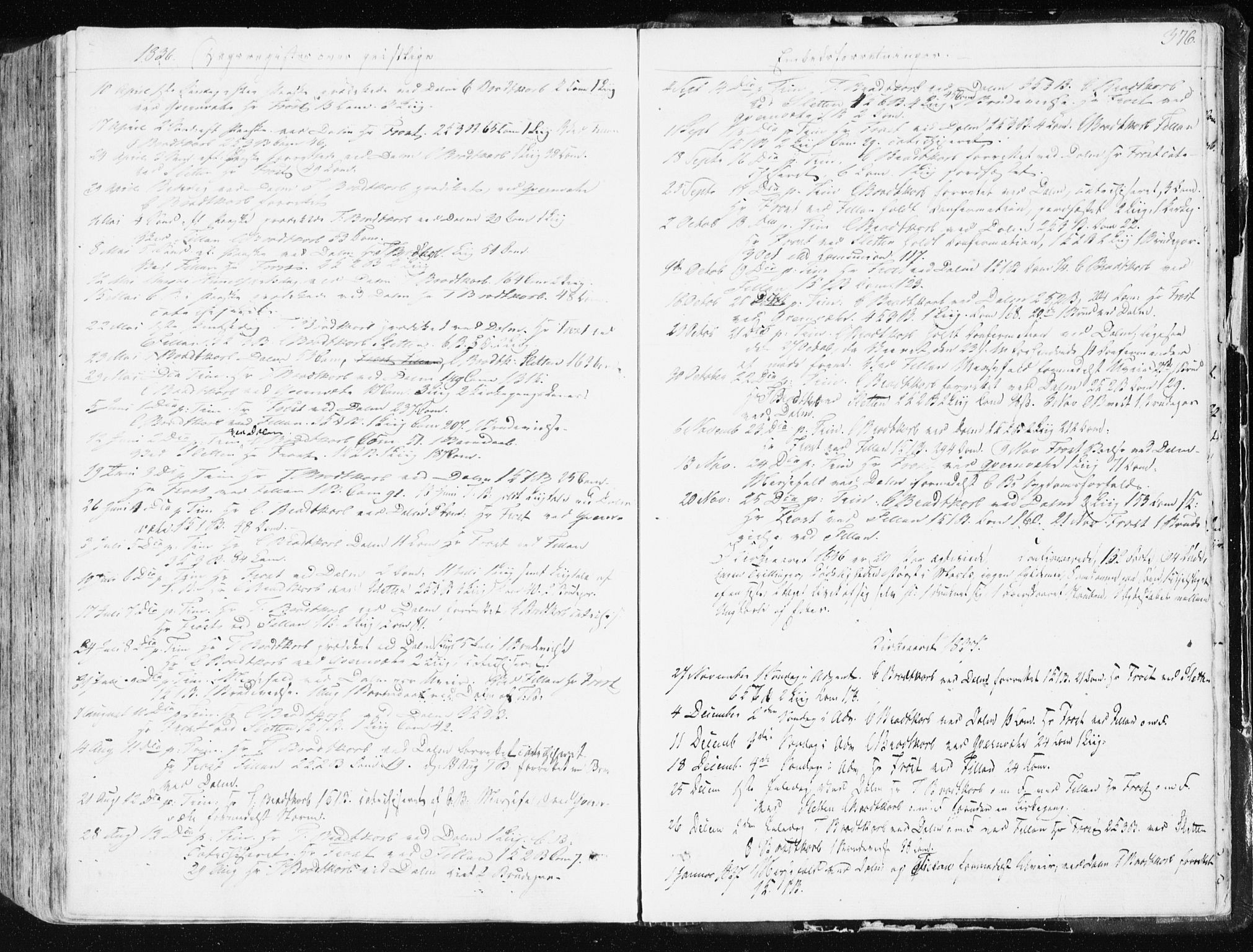 SAT, Ministerialprotokoller, klokkerbøker og fødselsregistre - Sør-Trøndelag, 634/L0528: Ministerialbok nr. 634A04, 1827-1842, s. 376