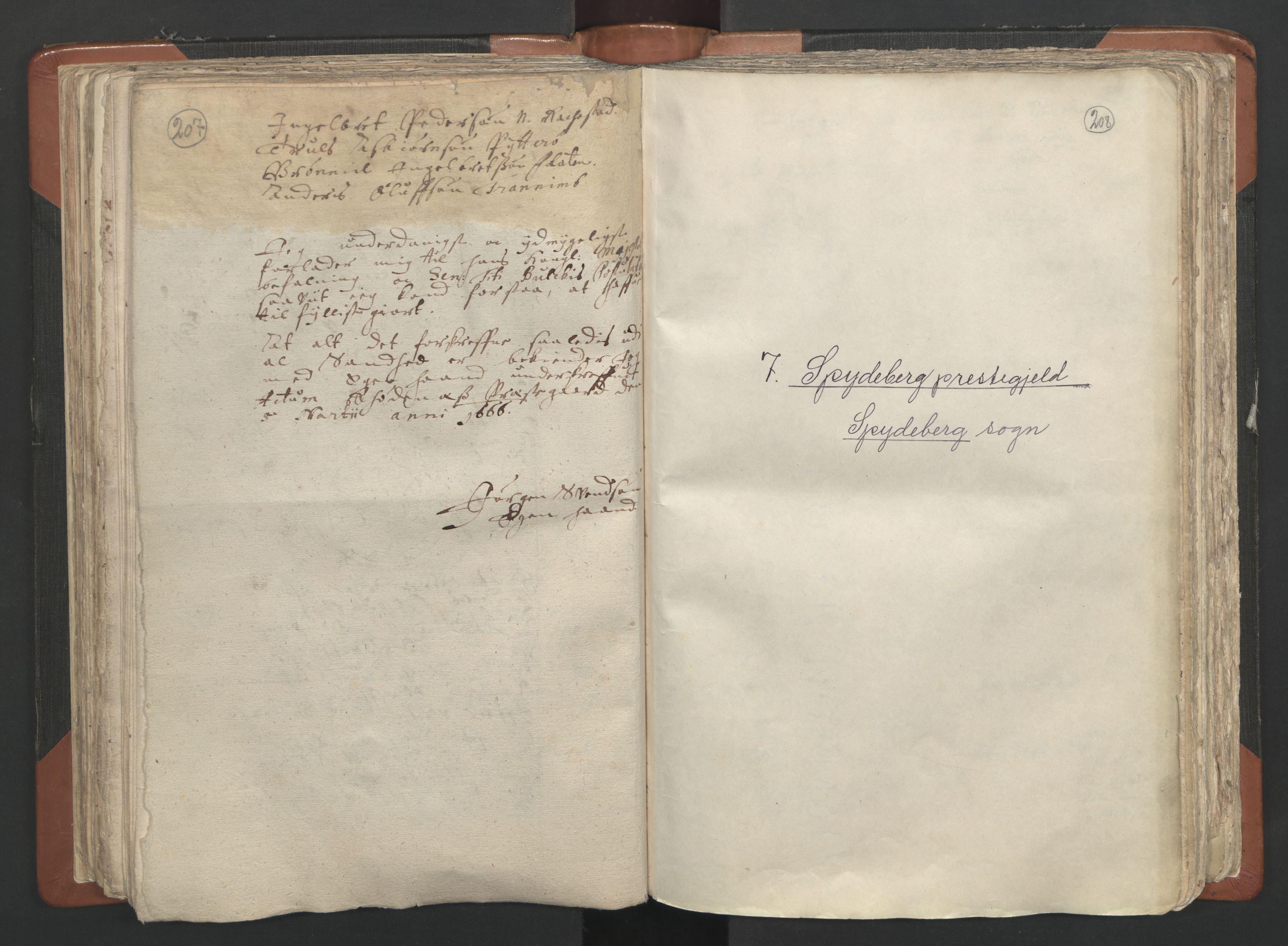 RA, Sogneprestenes manntall 1664-1666, nr. 2: Øvre Borgesyssel prosti, 1664-1666, s. 207-208