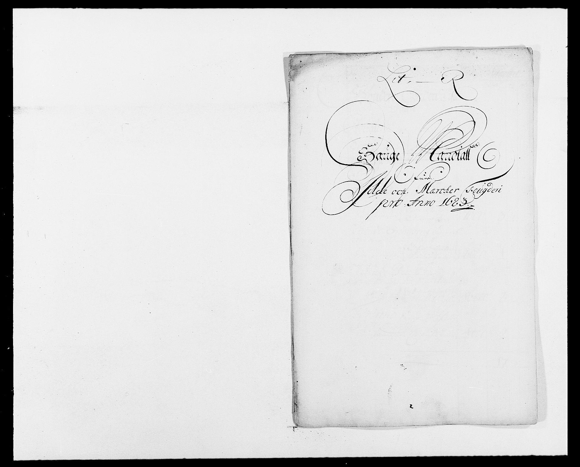 RA, Rentekammeret inntil 1814, Reviderte regnskaper, Fogderegnskap, R01/L0004: Fogderegnskap Idd og Marker , 1682-1683, s. 295