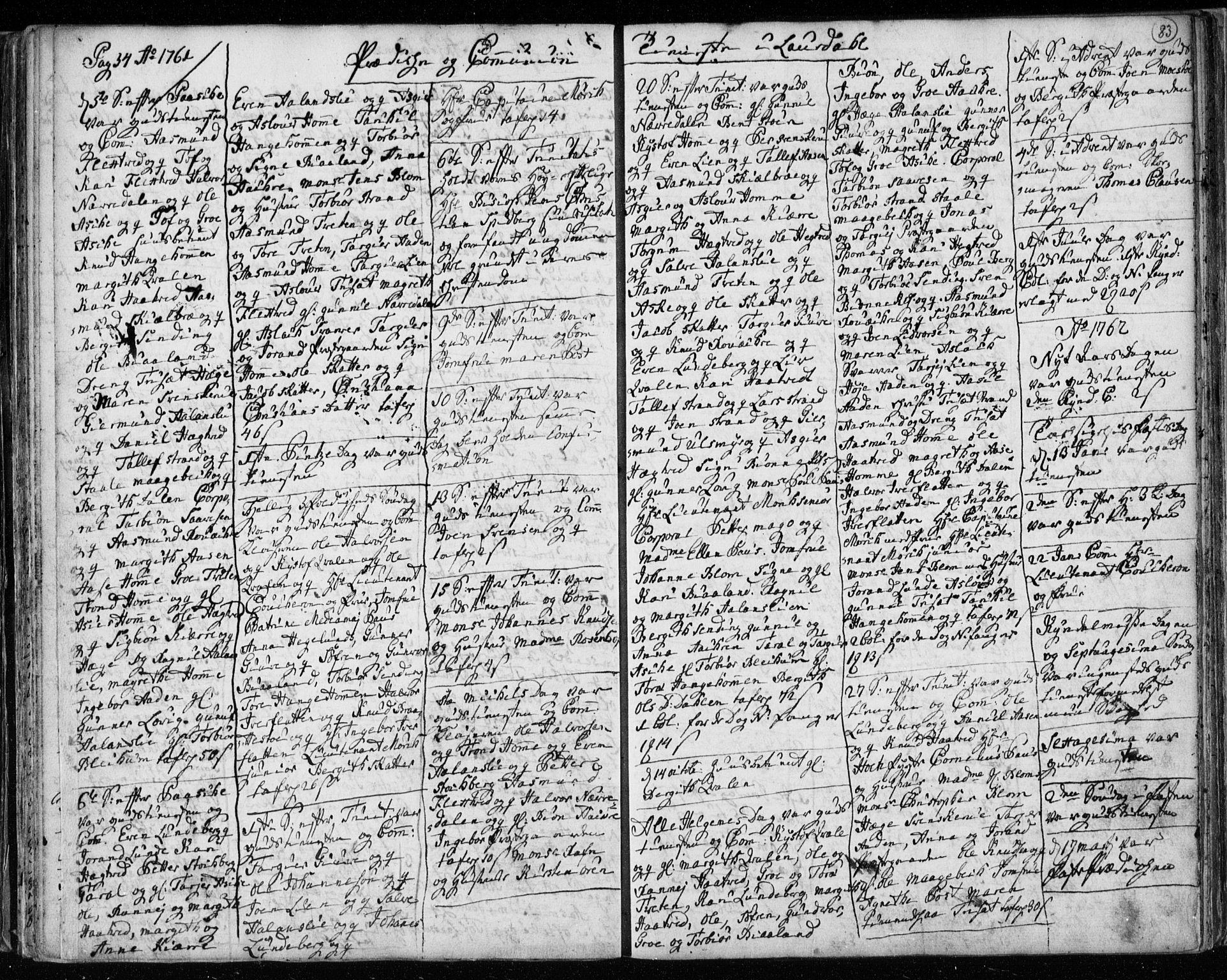 SAKO, Lårdal kirkebøker, F/Fa/L0003: Ministerialbok nr. I 3, 1754-1790, s. 83