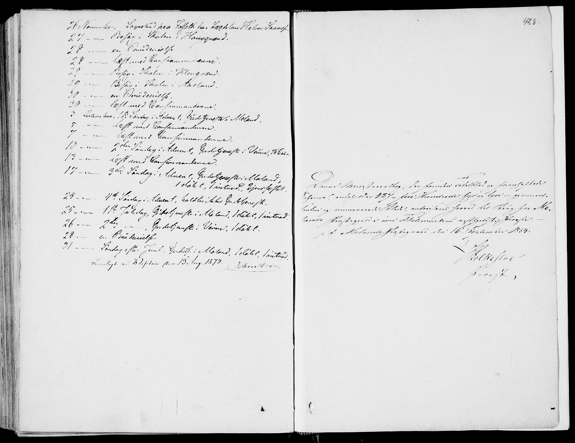 SAKO, Fyresdal kirkebøker, F/Fa/L0005: Ministerialbok nr. I 5, 1855-1871, s. 428
