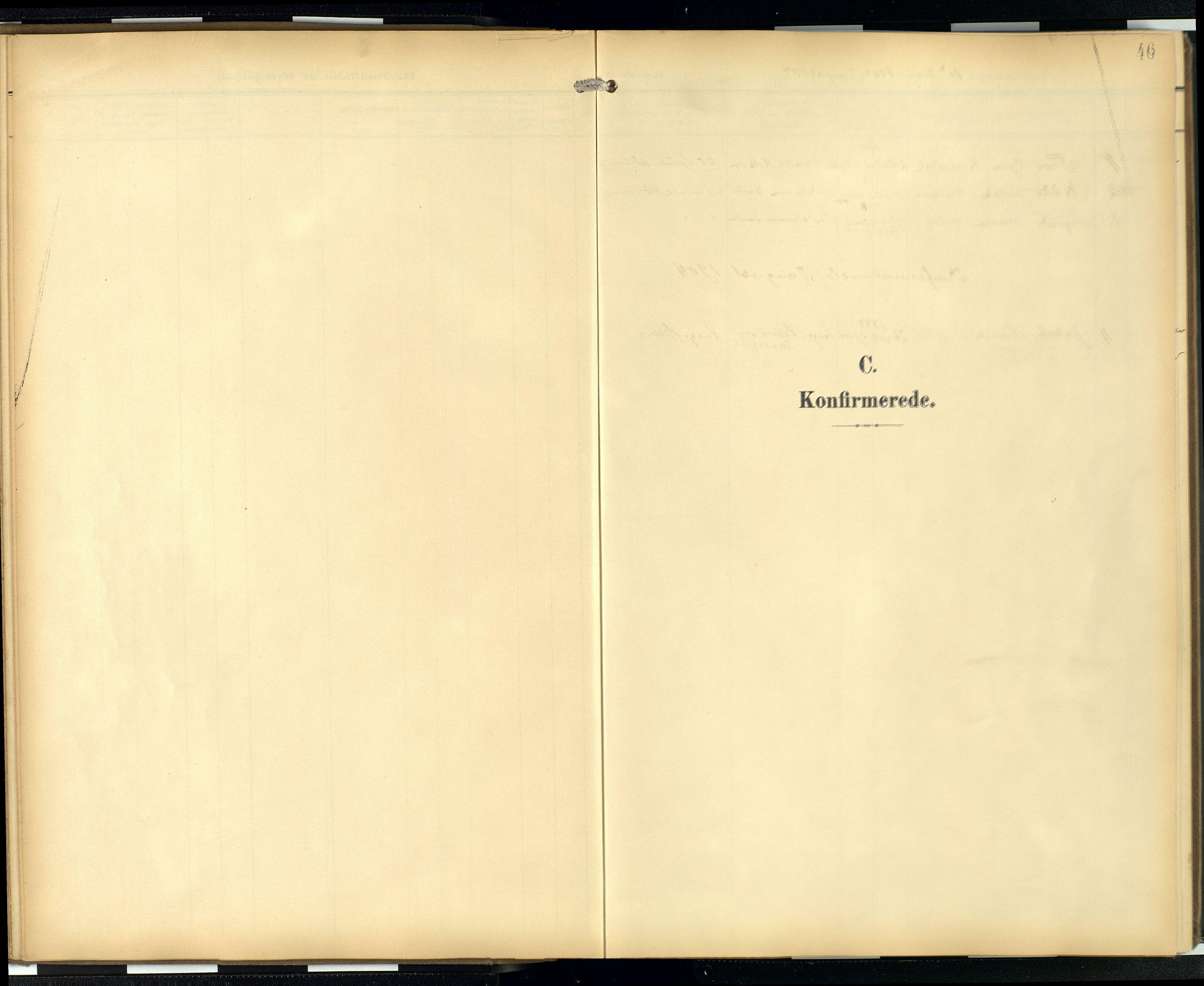 SAB, Privatarkiv 103 - Den norske sjømannsmisjon i utlandet/London m/bistasjoner, H/Ha/L0003: Ministerialbok nr. A 3, 1903-1934, s. 45b-46a
