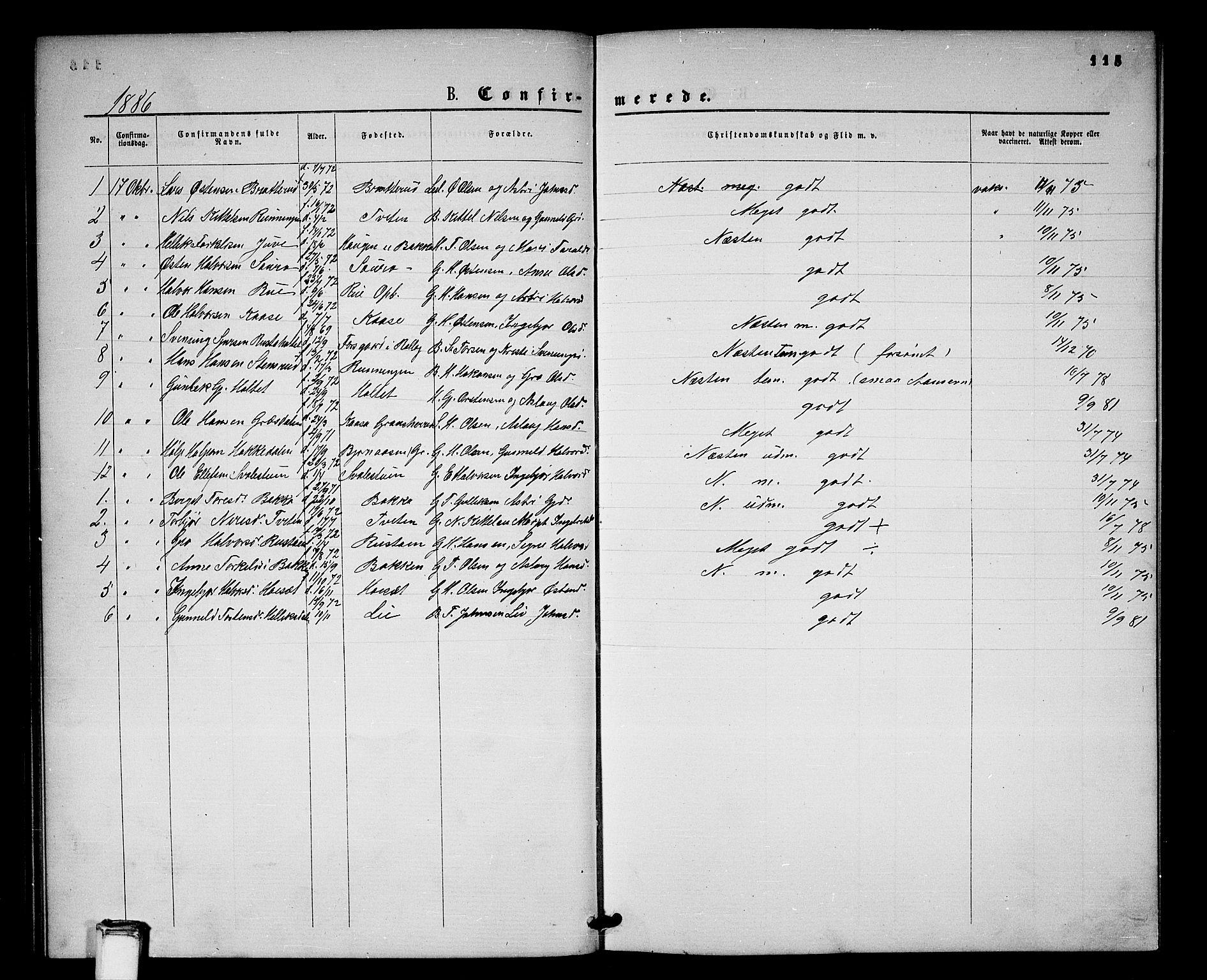 SAKO, Gransherad kirkebøker, G/Gb/L0002: Klokkerbok nr. II 2, 1860-1886, s. 115