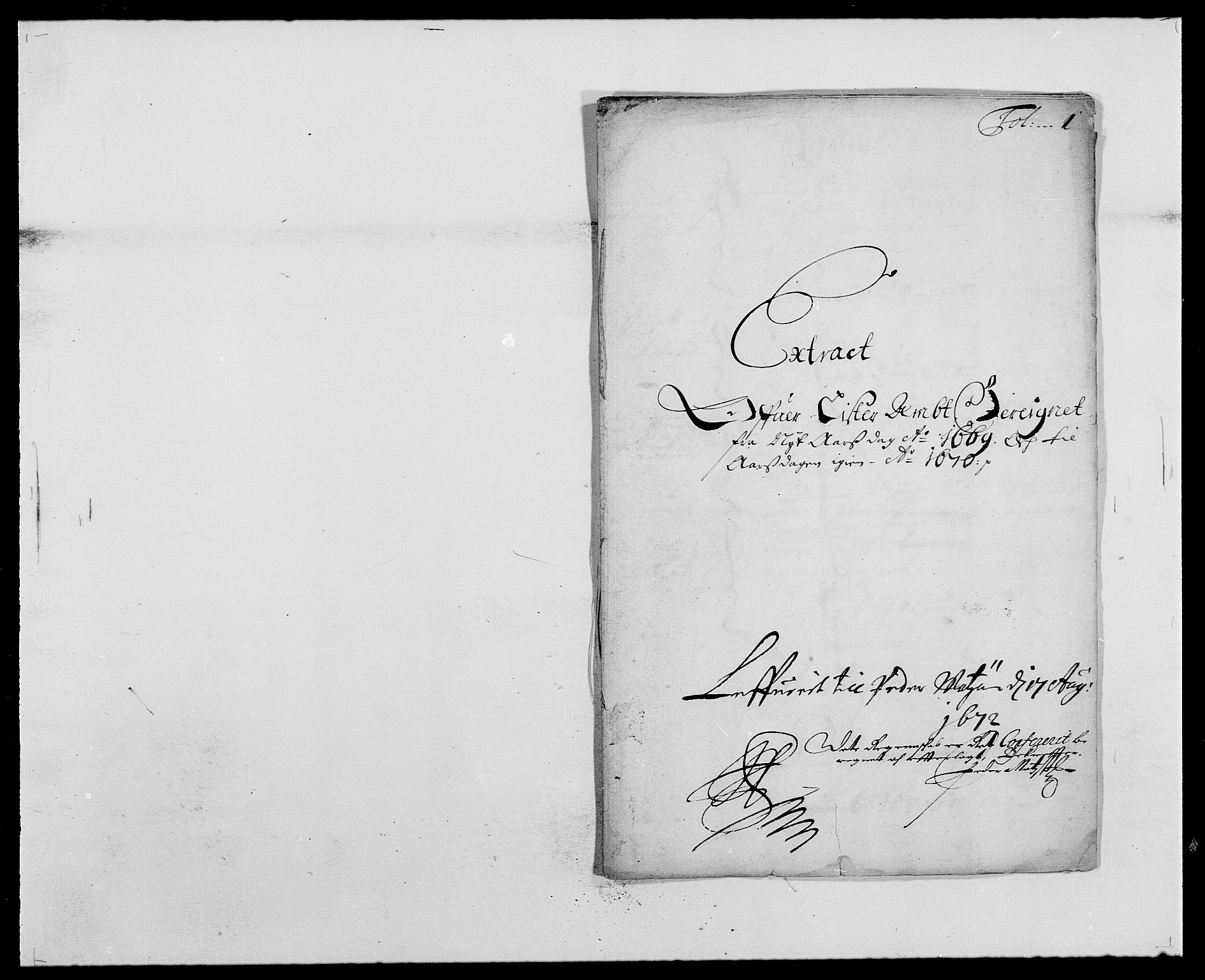 RA, Rentekammeret inntil 1814, Reviderte regnskaper, Fogderegnskap, R41/L2525: Fogderegnskap Lista, 1669-1671, s. 1
