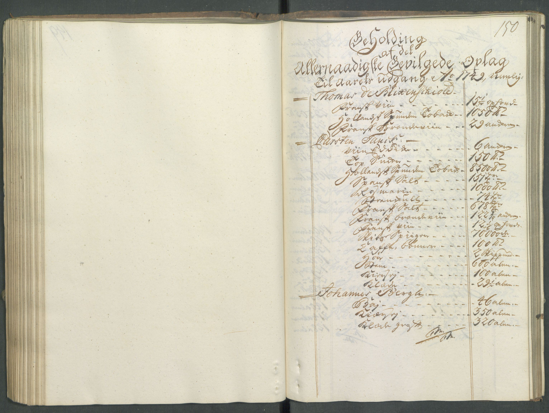 RA, Generaltollkammeret, tollregnskaper, R01/L0029: Tollregnskaper Fredrikshald, 1756, s. 149b-150a
