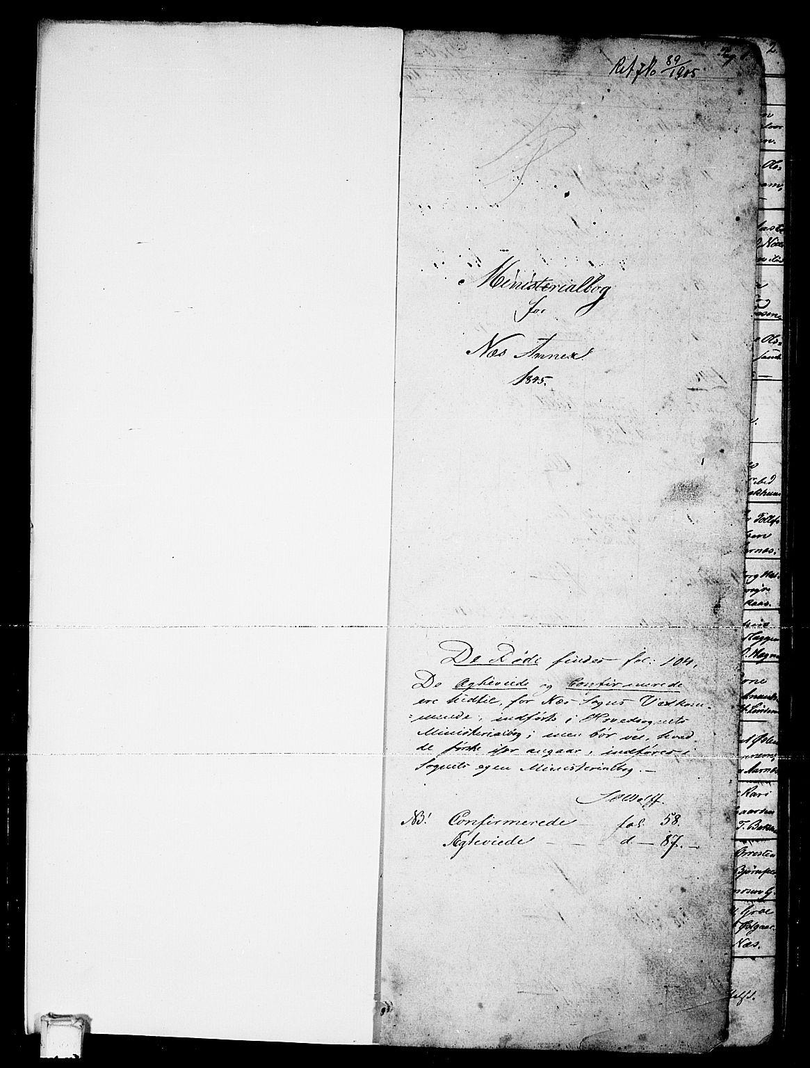 SAKO, Sauherad kirkebøker, G/Gb/L0001: Klokkerbok nr. II 1, 1845-1865, s. 1
