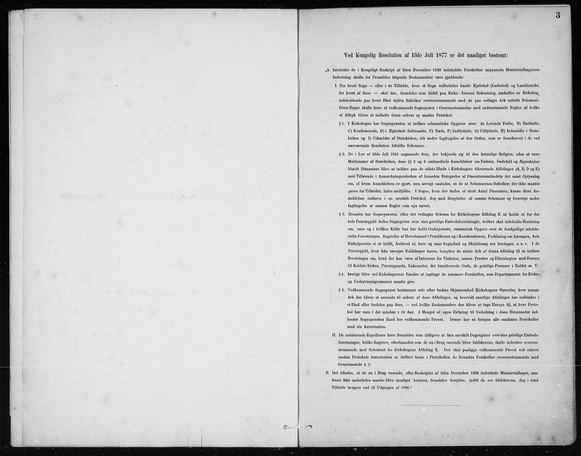 SAB, St. Jørgens hospital og Årstad sokneprestembete, Klokkerbok nr. A 10, 1886-1910, s. 3