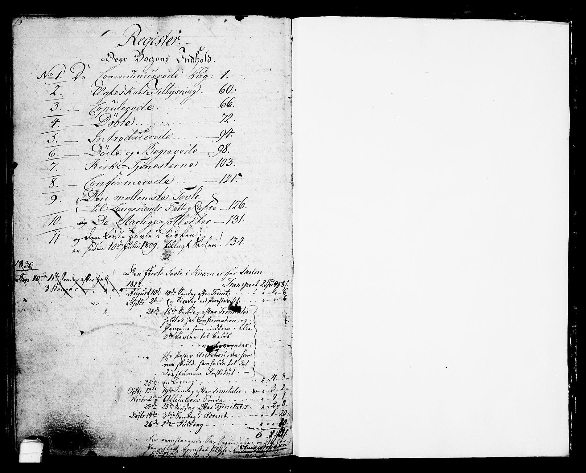 SAKO, Langesund kirkebøker, G/Ga/L0002: Klokkerbok nr. 2, 1801-1815
