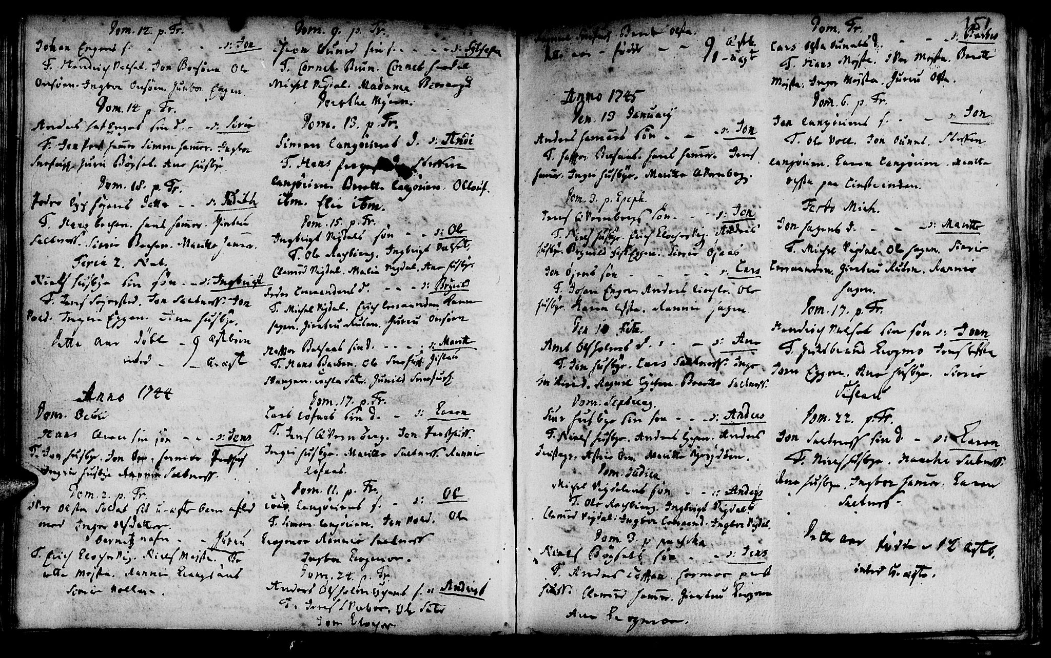 SAT, Ministerialprotokoller, klokkerbøker og fødselsregistre - Sør-Trøndelag, 666/L0783: Ministerialbok nr. 666A01, 1702-1753, s. 151