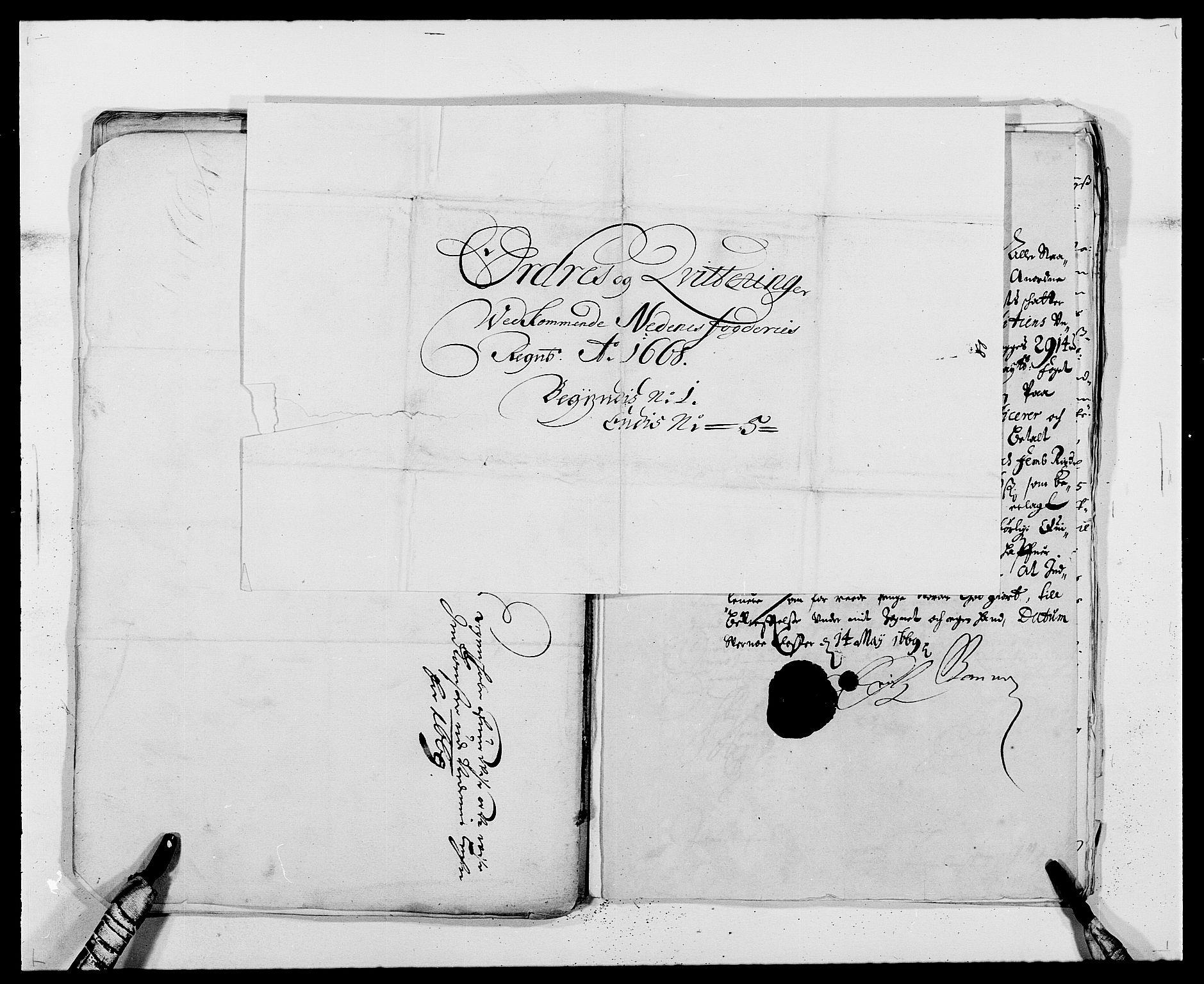 RA, Rentekammeret inntil 1814, Reviderte regnskaper, Fogderegnskap, R39/L2298: Fogderegnskap Nedenes, 1667-1669, s. 104