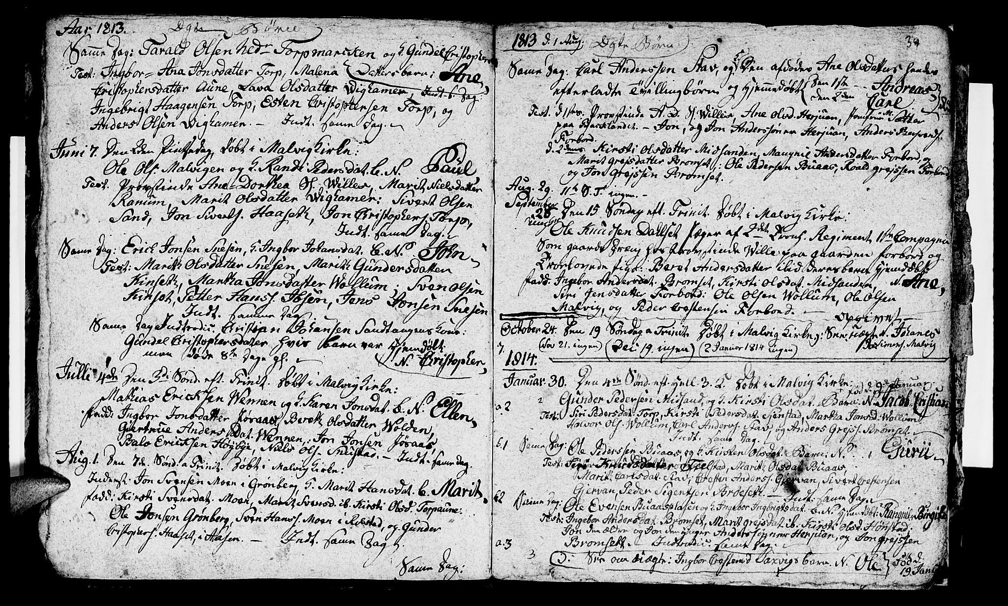 SAT, Ministerialprotokoller, klokkerbøker og fødselsregistre - Sør-Trøndelag, 616/L0419: Klokkerbok nr. 616C02, 1797-1816, s. 39