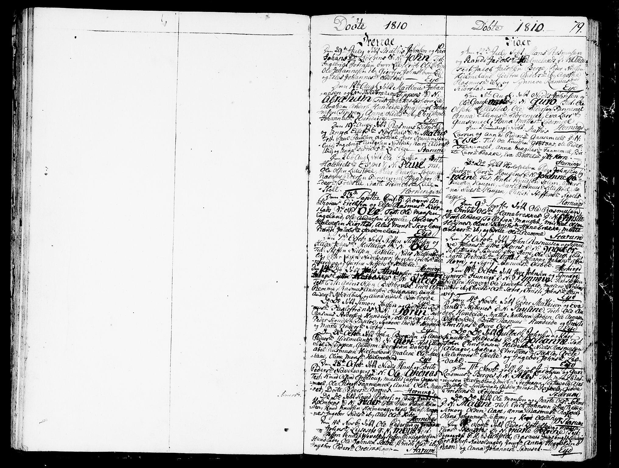SAB, Eid Sokneprestembete, H/Haa: Ministerialbok nr. A 4, 1806-1815, s. 79