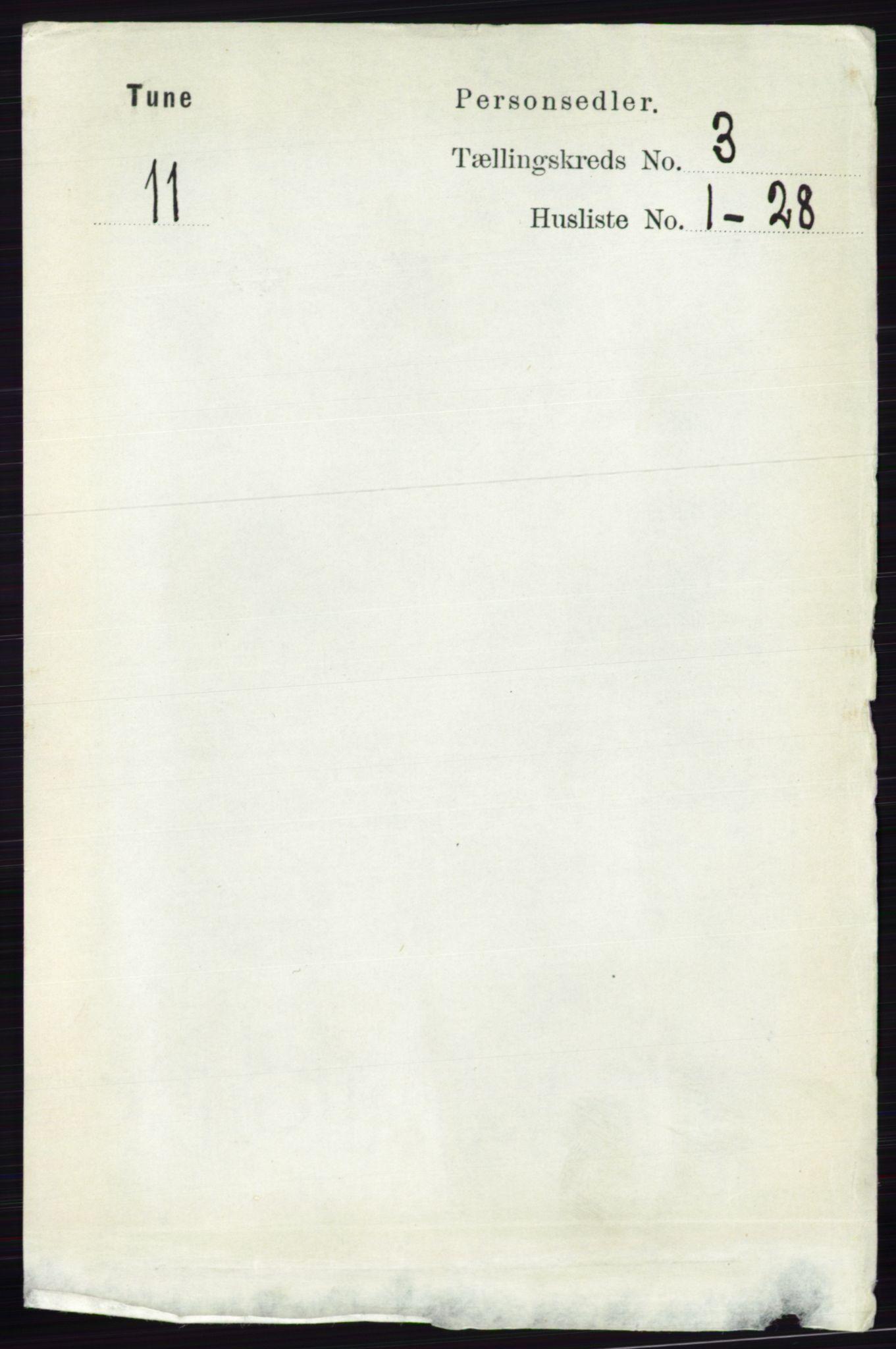 RA, Folketelling 1891 for 0130 Tune herred, 1891, s. 1484