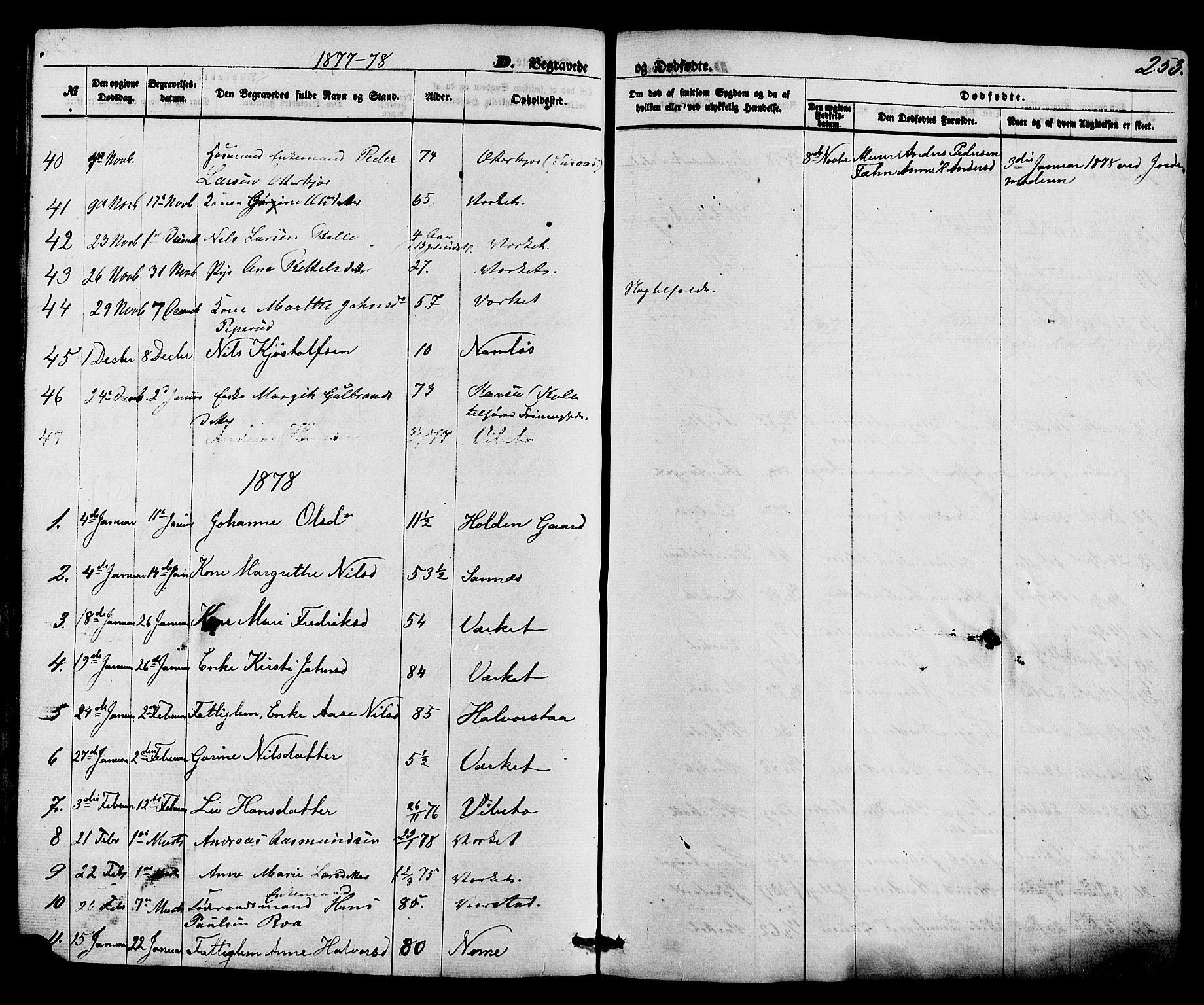 SAKO, Holla kirkebøker, F/Fa/L0007: Ministerialbok nr. 7, 1869-1881, s. 253