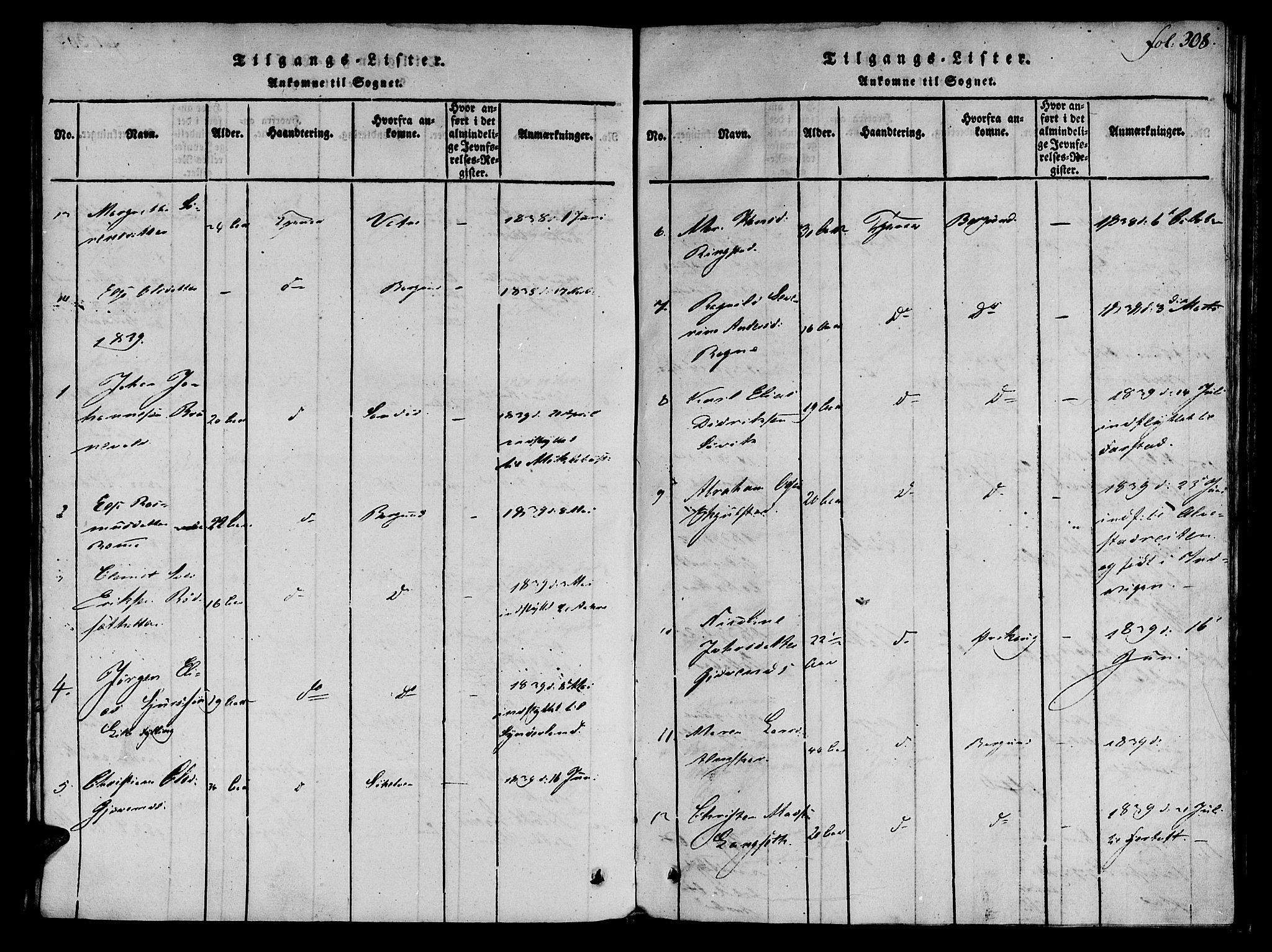 SAT, Ministerialprotokoller, klokkerbøker og fødselsregistre - Møre og Romsdal, 536/L0495: Ministerialbok nr. 536A04, 1818-1847, s. 308