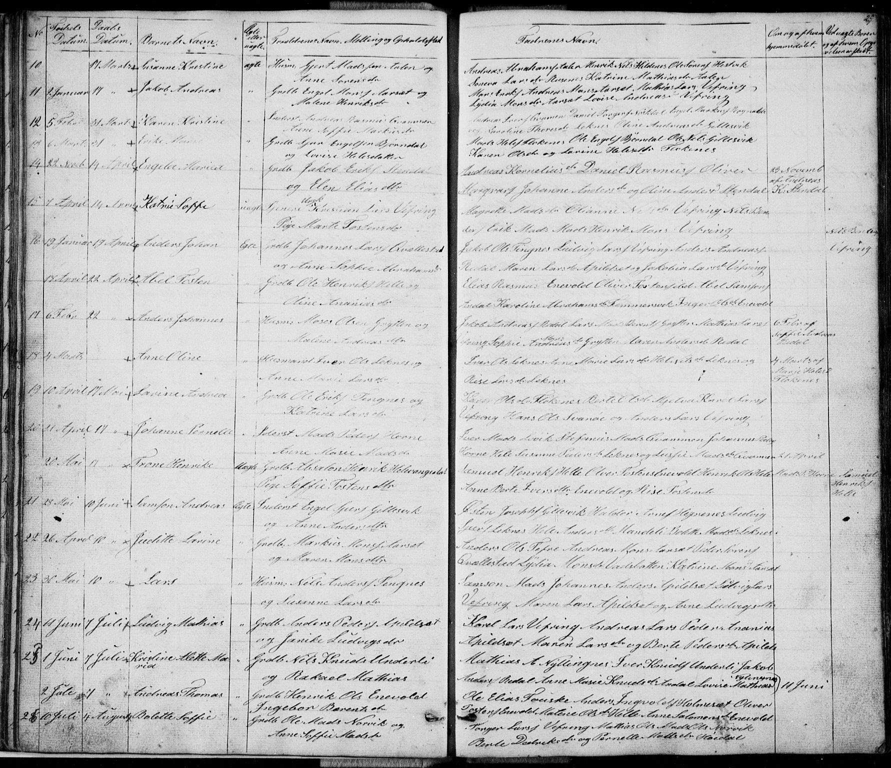 SAB, Førde Sokneprestembete, H/Hab: Klokkerbok nr. E 0, 1853-1880, s. 29