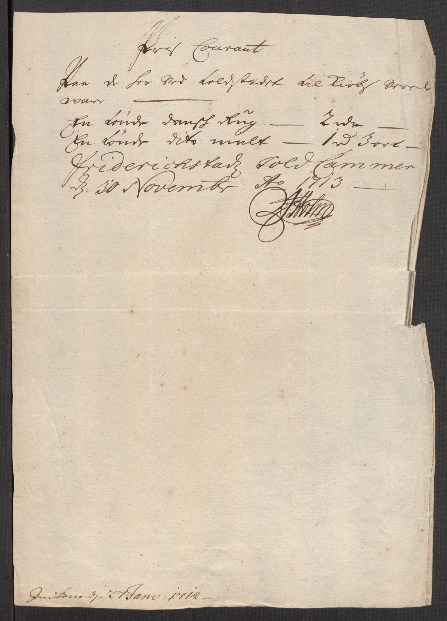 RA, Rentekammeret inntil 1814, Realistisk ordnet avdeling, Oe/L0001: [Ø1]: Priskuranter, 1712-1739, s. 20