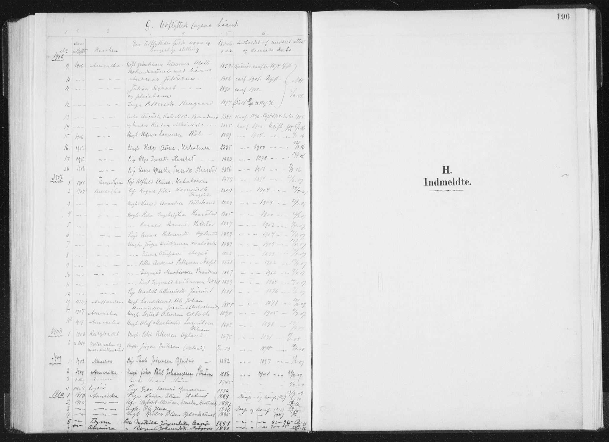 SAT, Ministerialprotokoller, klokkerbøker og fødselsregistre - Nord-Trøndelag, 771/L0597: Ministerialbok nr. 771A04, 1885-1910, s. 196