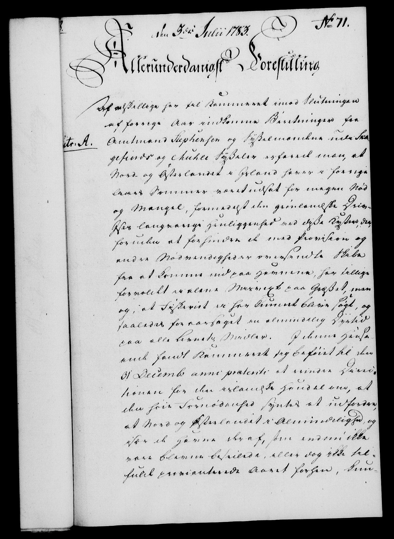 RA, Rentekammeret, Kammerkanselliet, G/Gf/Gfa/L0065: Norsk relasjons- og resolusjonsprotokoll (merket RK 52.65), 1783, s. 521