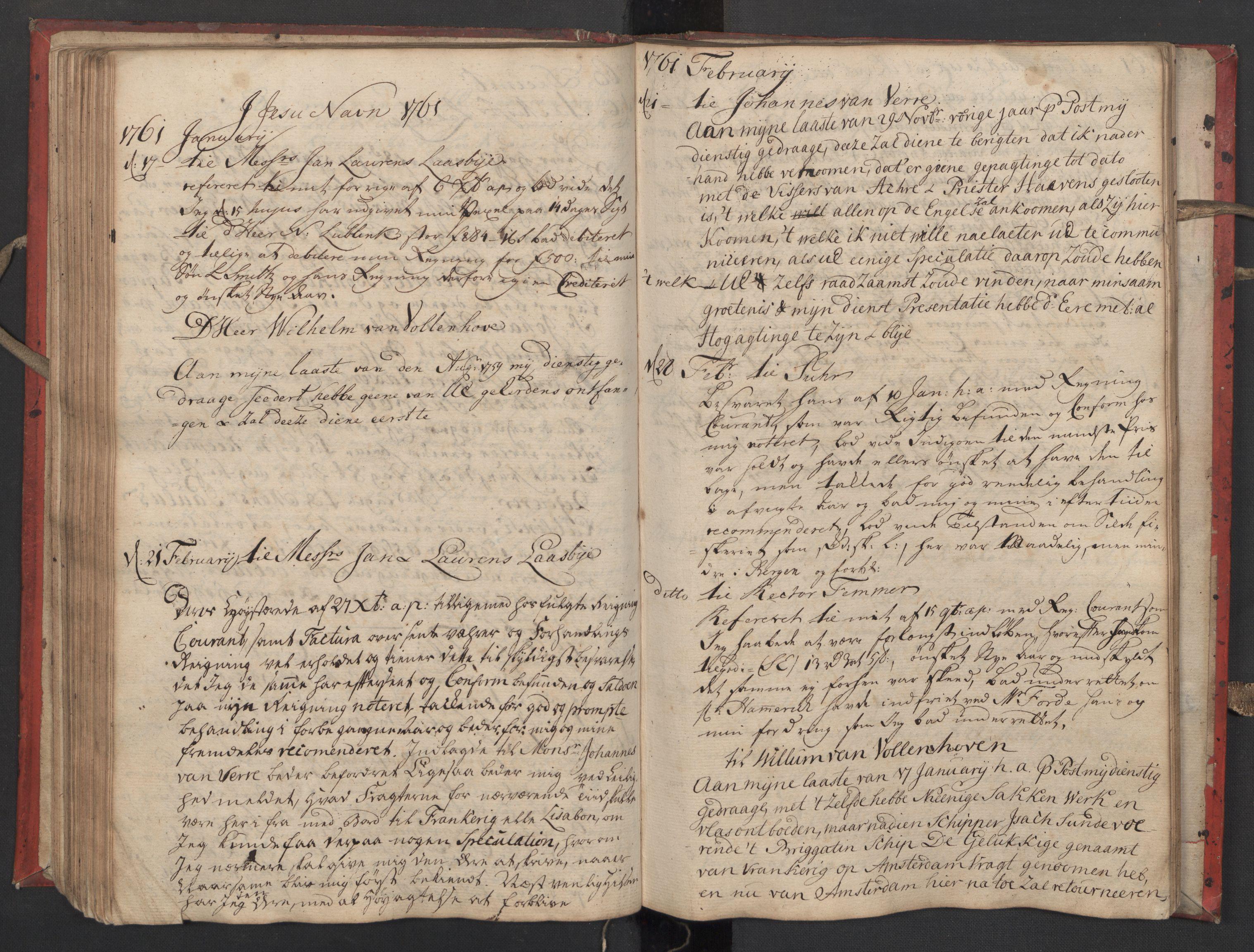 SAST, Pa 0119 - Smith, Lauritz Andersen og Lauritz Lauritzen, O/L0002: Kopibok, 1755-1766, s. 104
