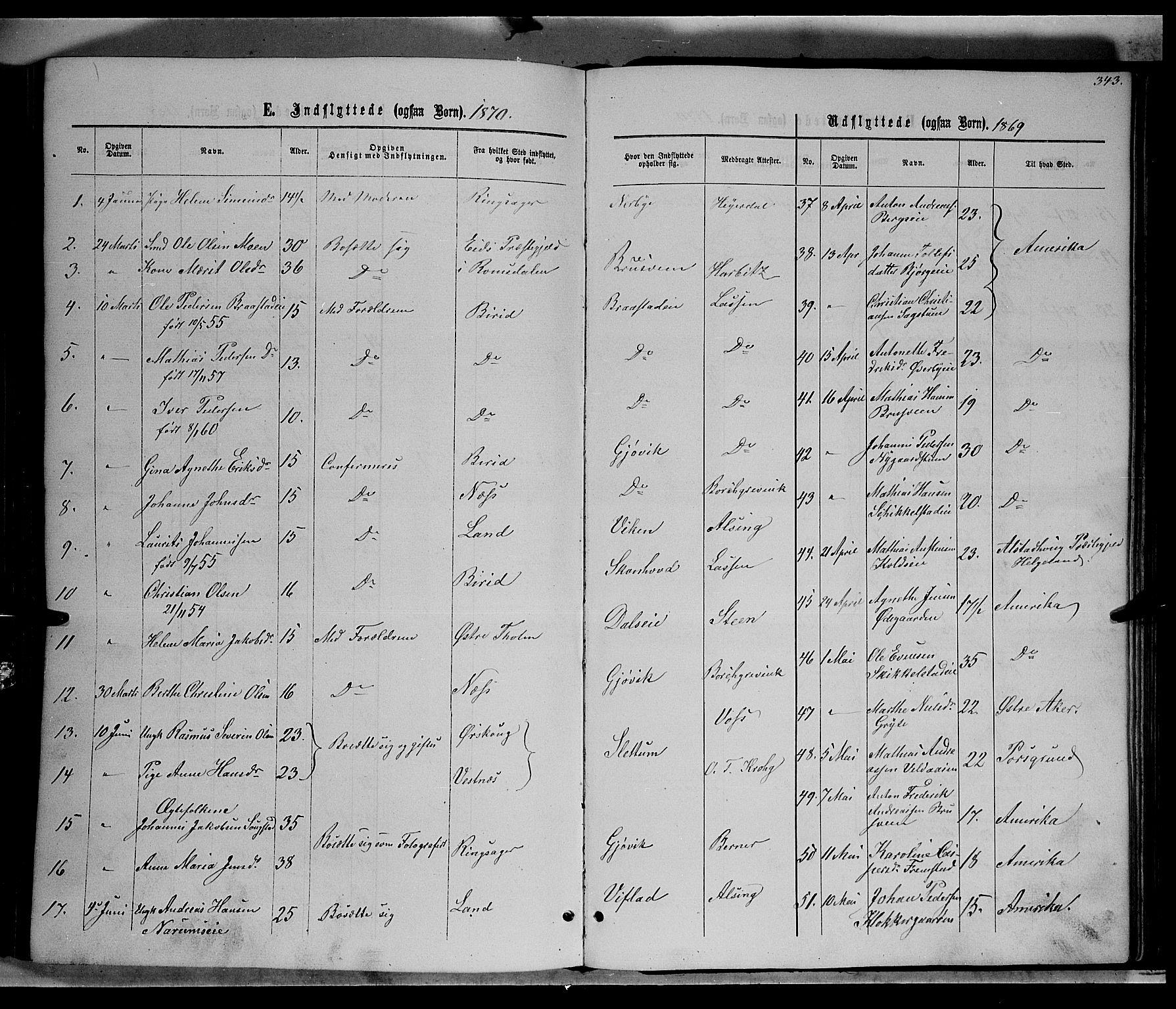 SAH, Vardal prestekontor, H/Ha/Hab/L0006: Klokkerbok nr. 6, 1869-1881, s. 343