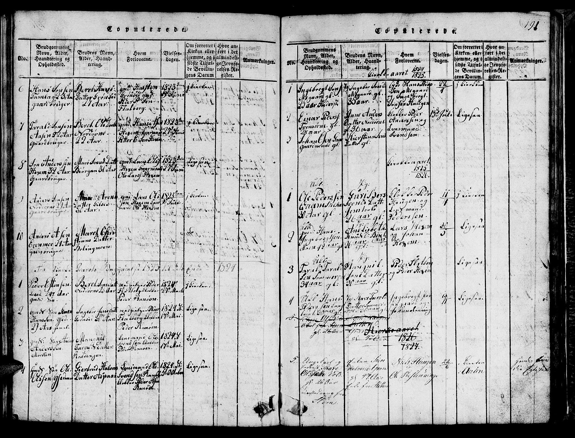 SAT, Ministerialprotokoller, klokkerbøker og fødselsregistre - Sør-Trøndelag, 685/L0976: Klokkerbok nr. 685C01, 1817-1878, s. 191