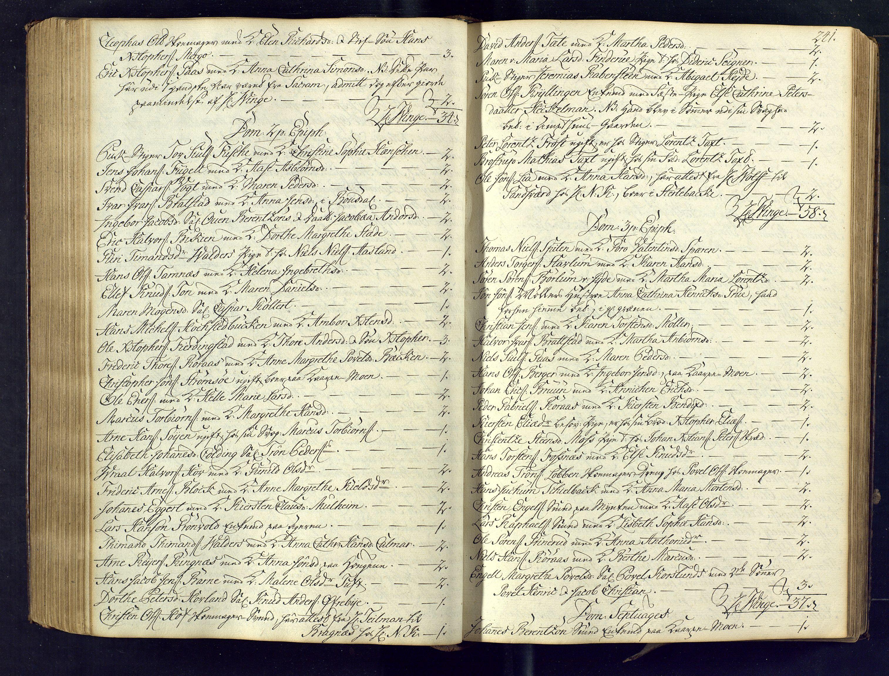 SAKO, Kongsberg kirkebøker, M/Ma/L0005: Kommunikantprotokoll nr. 5, 1755-1761, s. 241