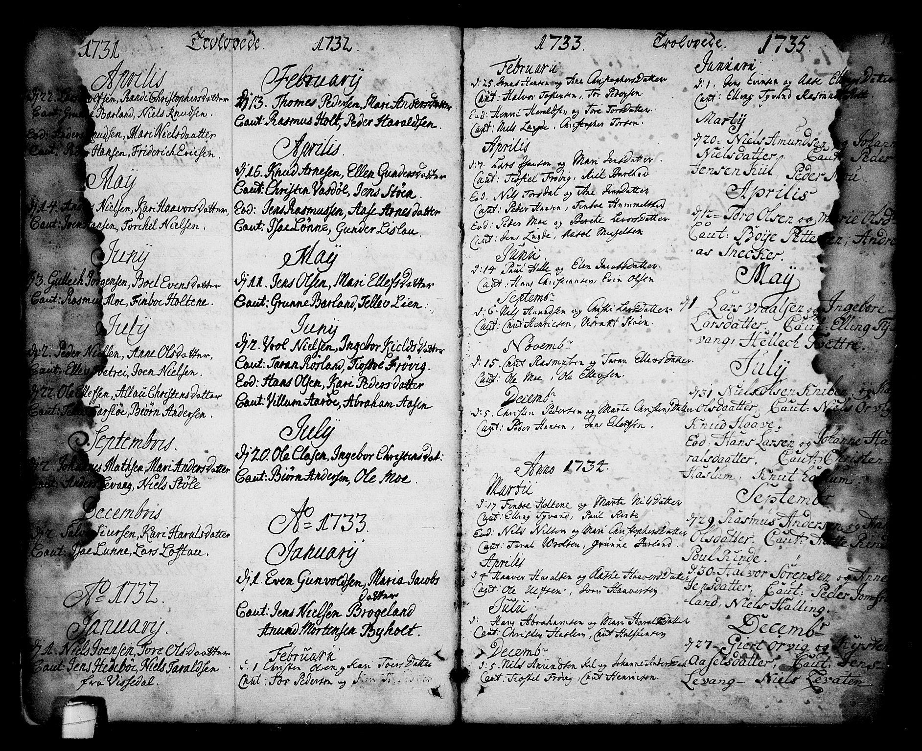 SAKO, Sannidal kirkebøker, F/Fa/L0001: Ministerialbok nr. 1, 1702-1766, s. 10-11