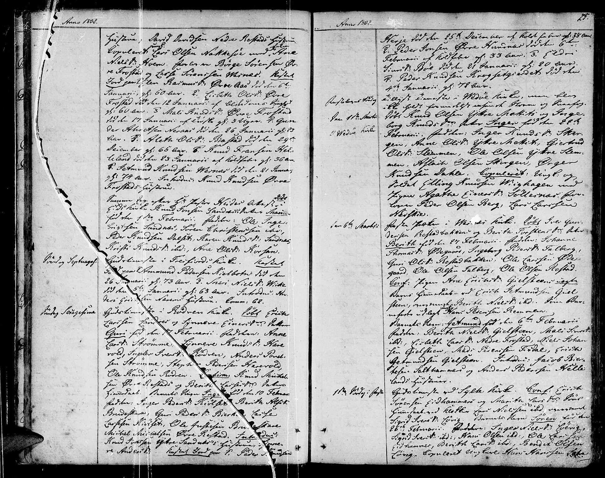 SAT, Ministerialprotokoller, klokkerbøker og fødselsregistre - Møre og Romsdal, 547/L0601: Ministerialbok nr. 547A03, 1799-1818, s. 25