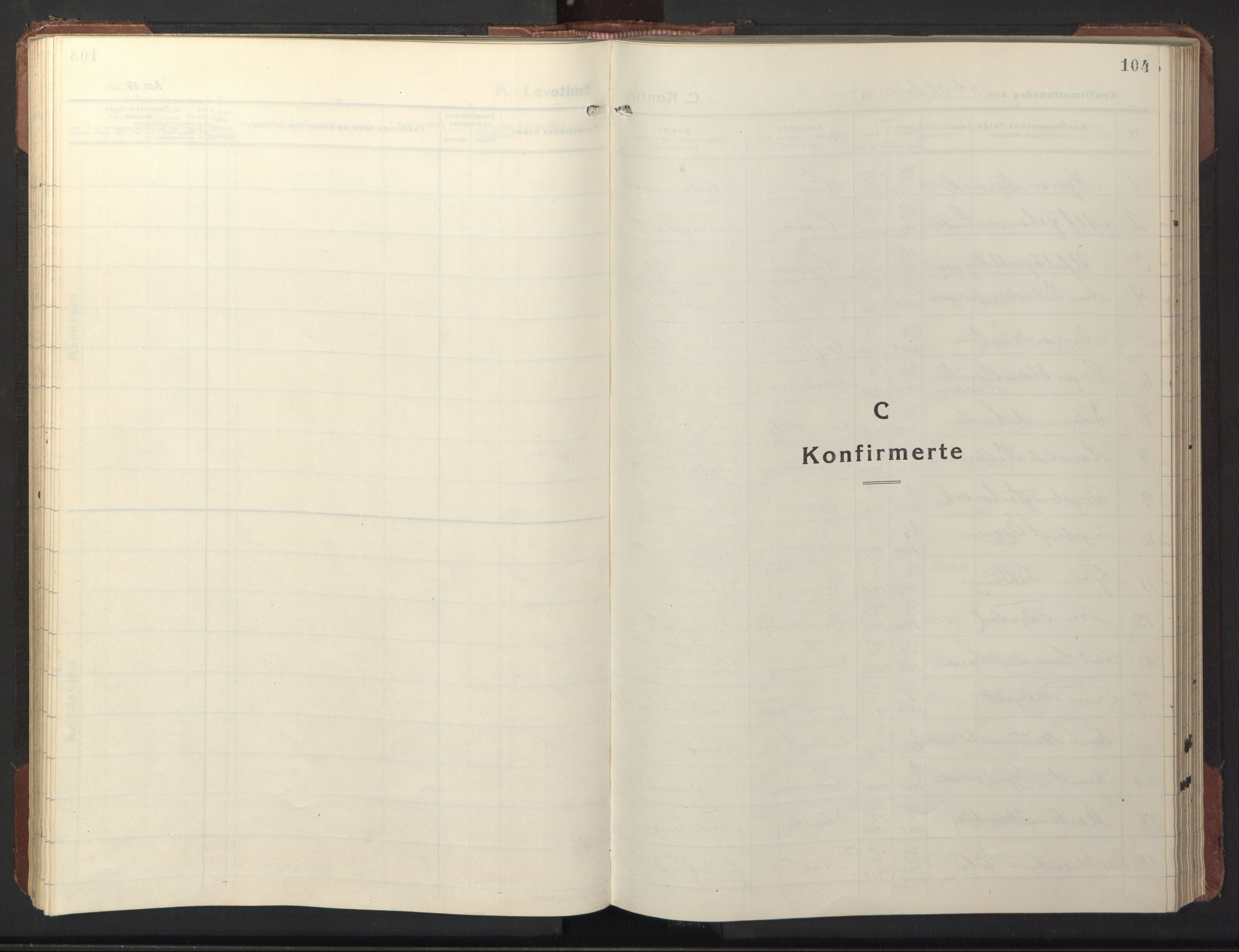SAT, Ministerialprotokoller, klokkerbøker og fødselsregistre - Sør-Trøndelag, 669/L0832: Klokkerbok nr. 669C02, 1925-1953, s. 104