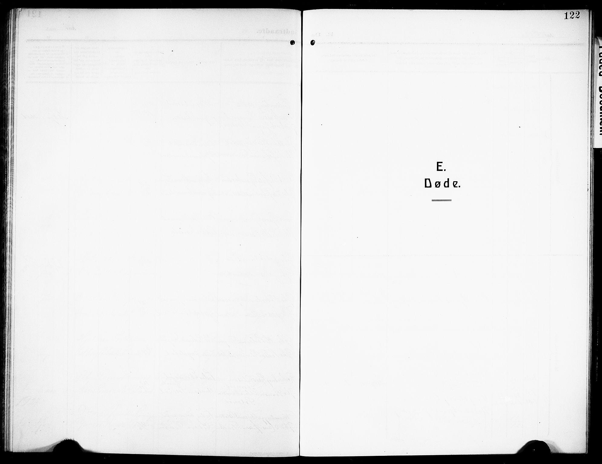 SAKO, Siljan kirkebøker, G/Ga/L0003: Klokkerbok nr. 3, 1909-1927, s. 122