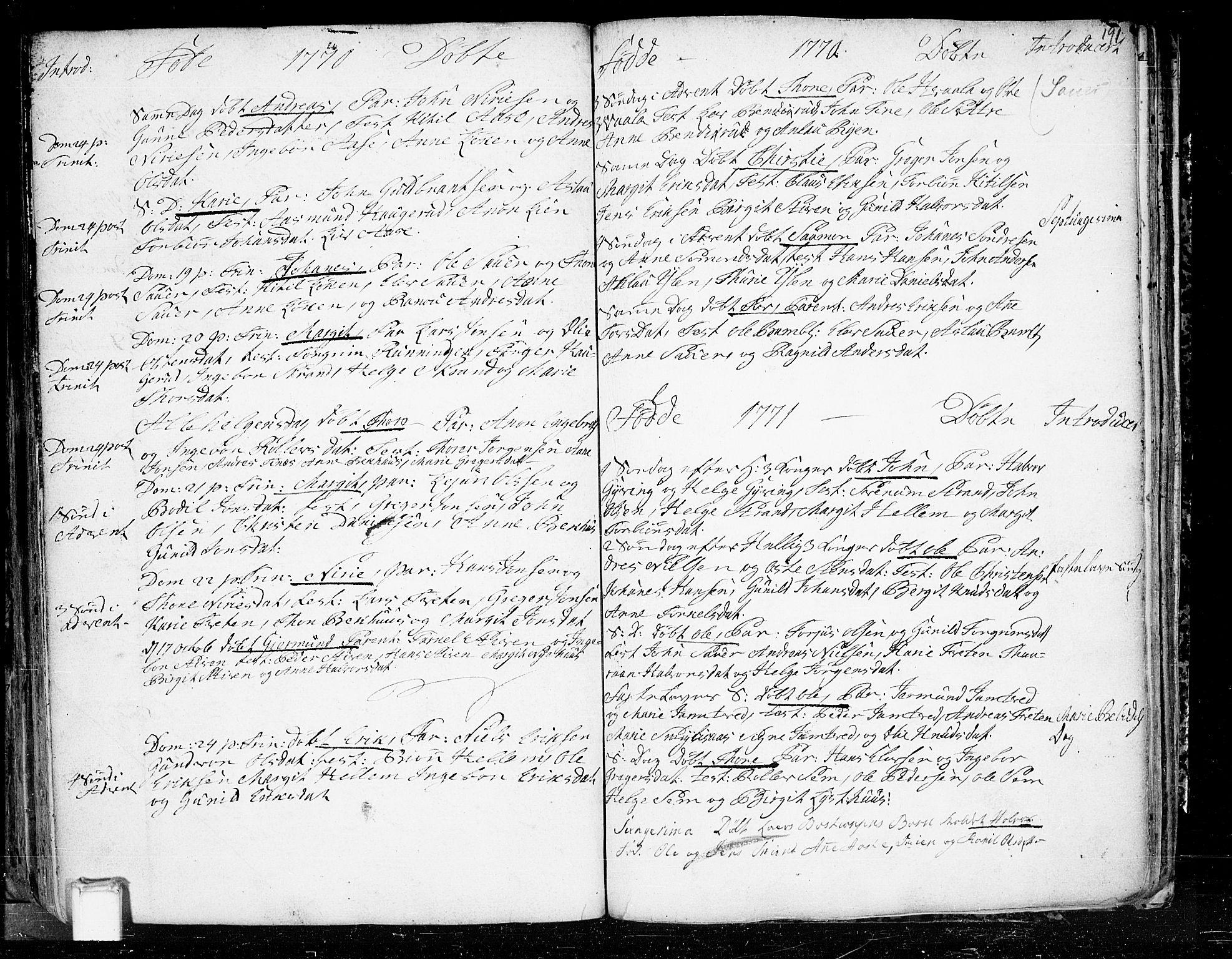 SAKO, Heddal kirkebøker, F/Fa/L0003: Ministerialbok nr. I 3, 1723-1783, s. 191