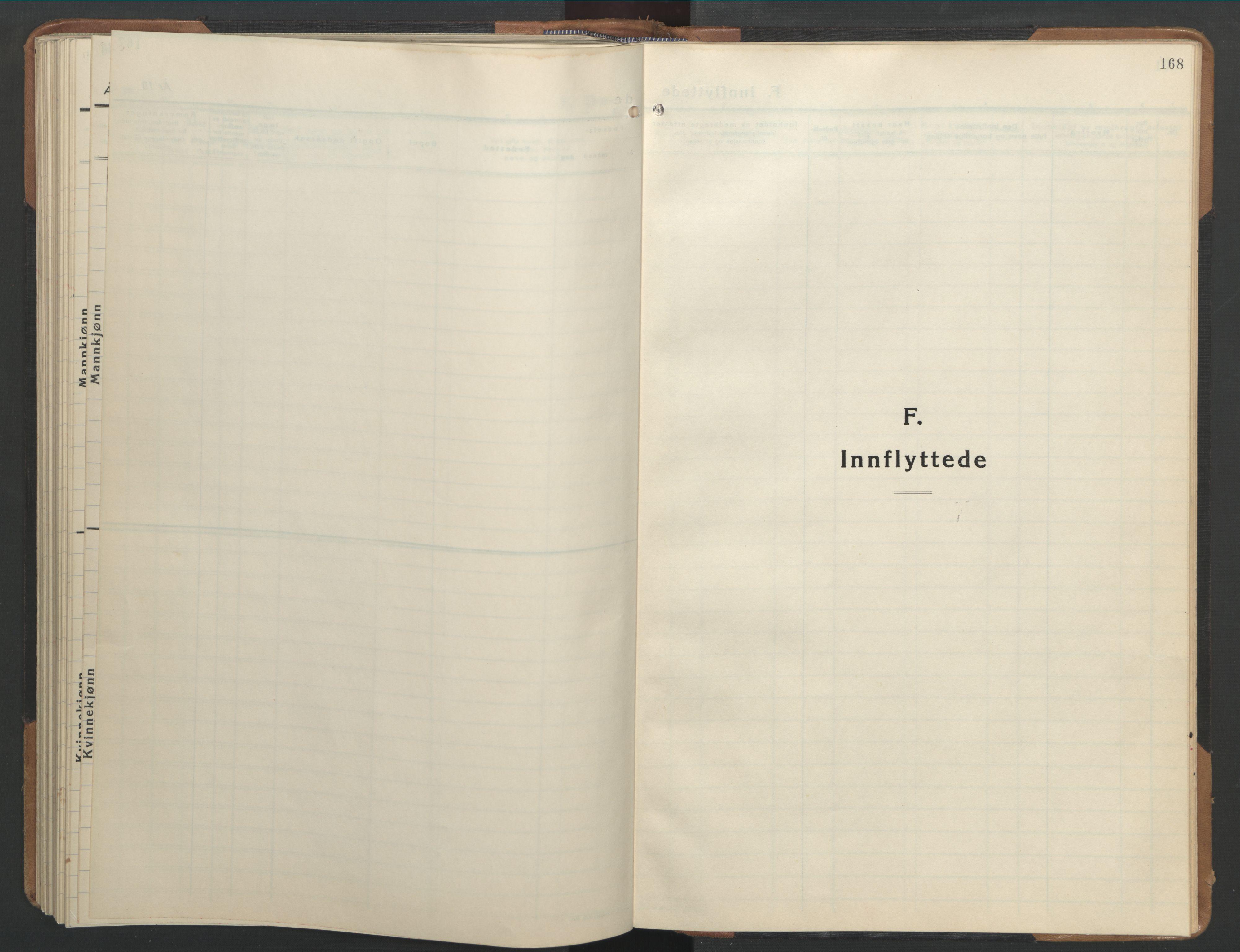 SAT, Ministerialprotokoller, klokkerbøker og fødselsregistre - Sør-Trøndelag, 655/L0690: Klokkerbok nr. 655C06, 1937-1950, s. 168
