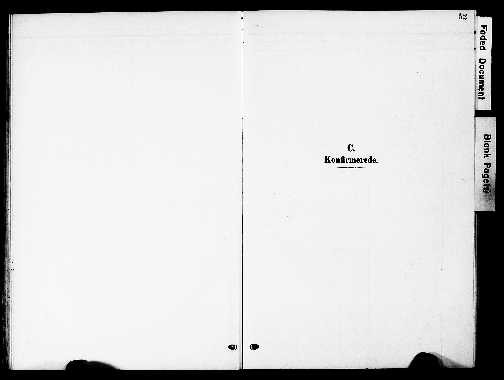SAH, Lesja prestekontor, Klokkerbok nr. 8, 1905-1931, s. 52