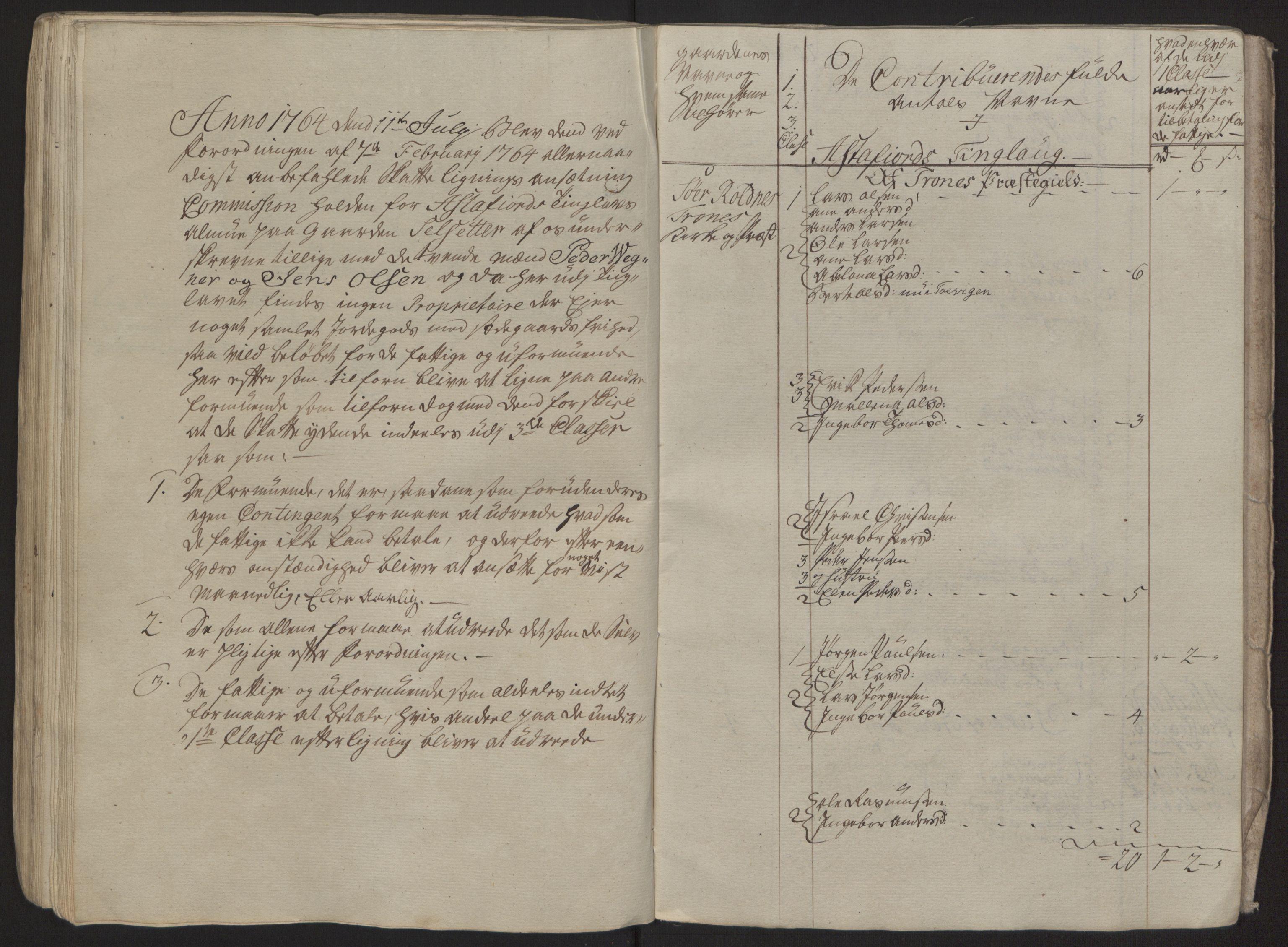 RA, Rentekammeret inntil 1814, Reviderte regnskaper, Fogderegnskap, R68/L4845: Ekstraskatten Senja og Troms, 1762-1765, s. 322