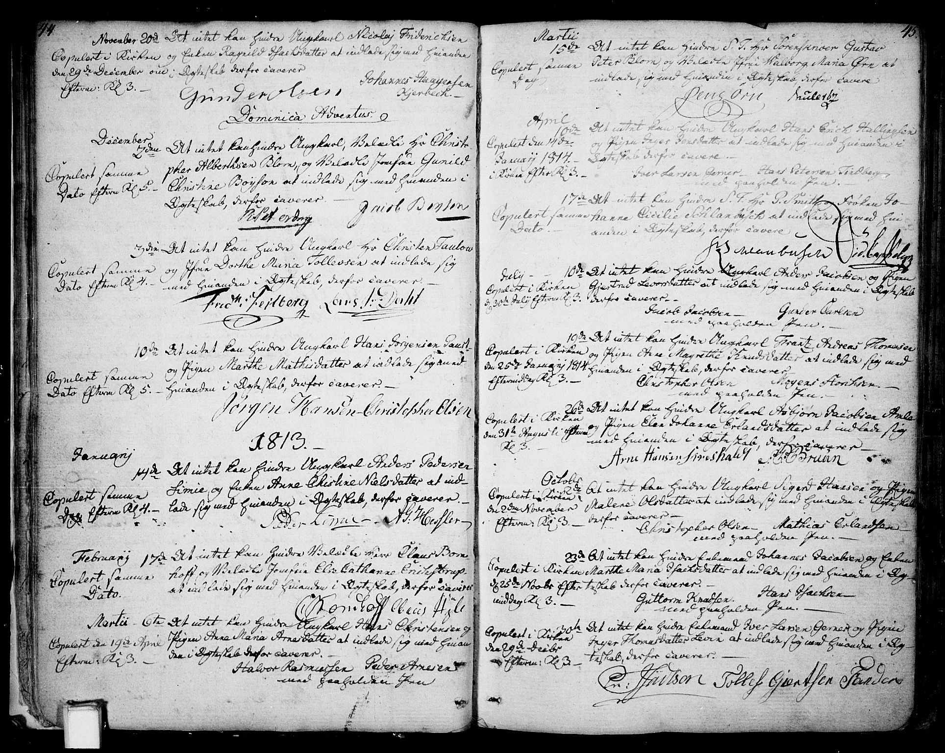 SAKO, Skien kirkebøker, F/Fa/L0004: Ministerialbok nr. 4, 1792-1814, s. 44-45