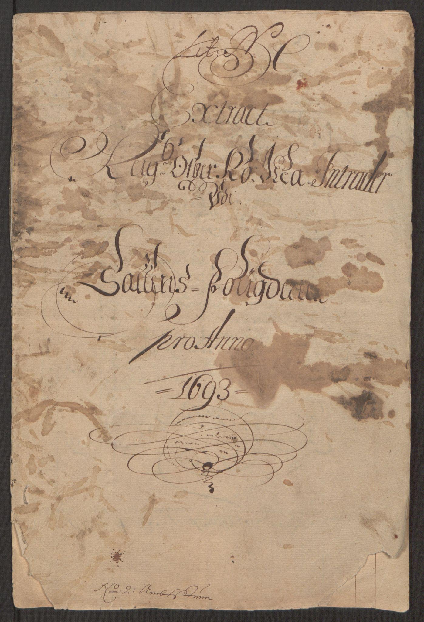 RA, Rentekammeret inntil 1814, Reviderte regnskaper, Fogderegnskap, R66/L4577: Fogderegnskap Salten, 1691-1693, s. 255