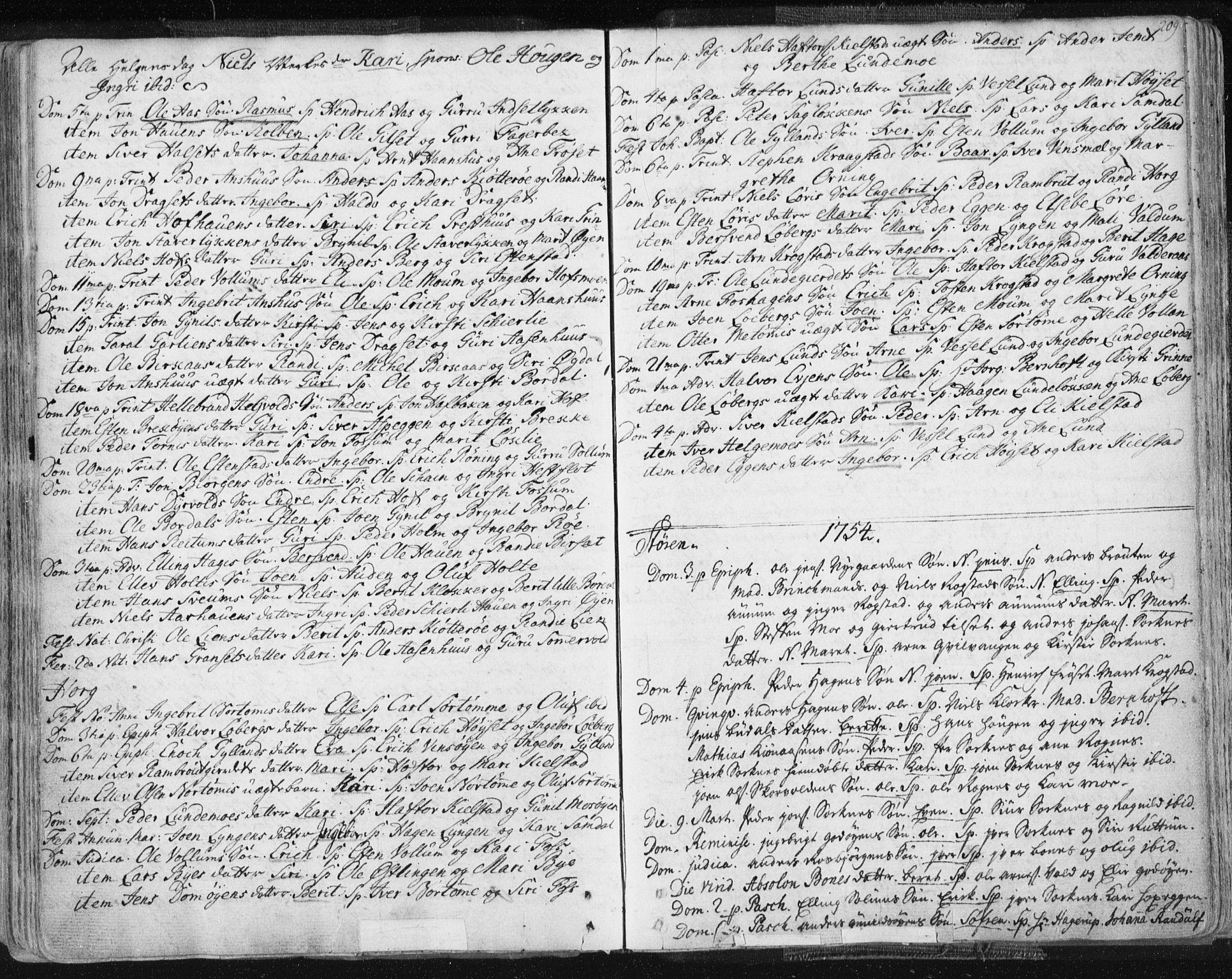 SAT, Ministerialprotokoller, klokkerbøker og fødselsregistre - Sør-Trøndelag, 687/L0991: Ministerialbok nr. 687A02, 1747-1790, s. 209