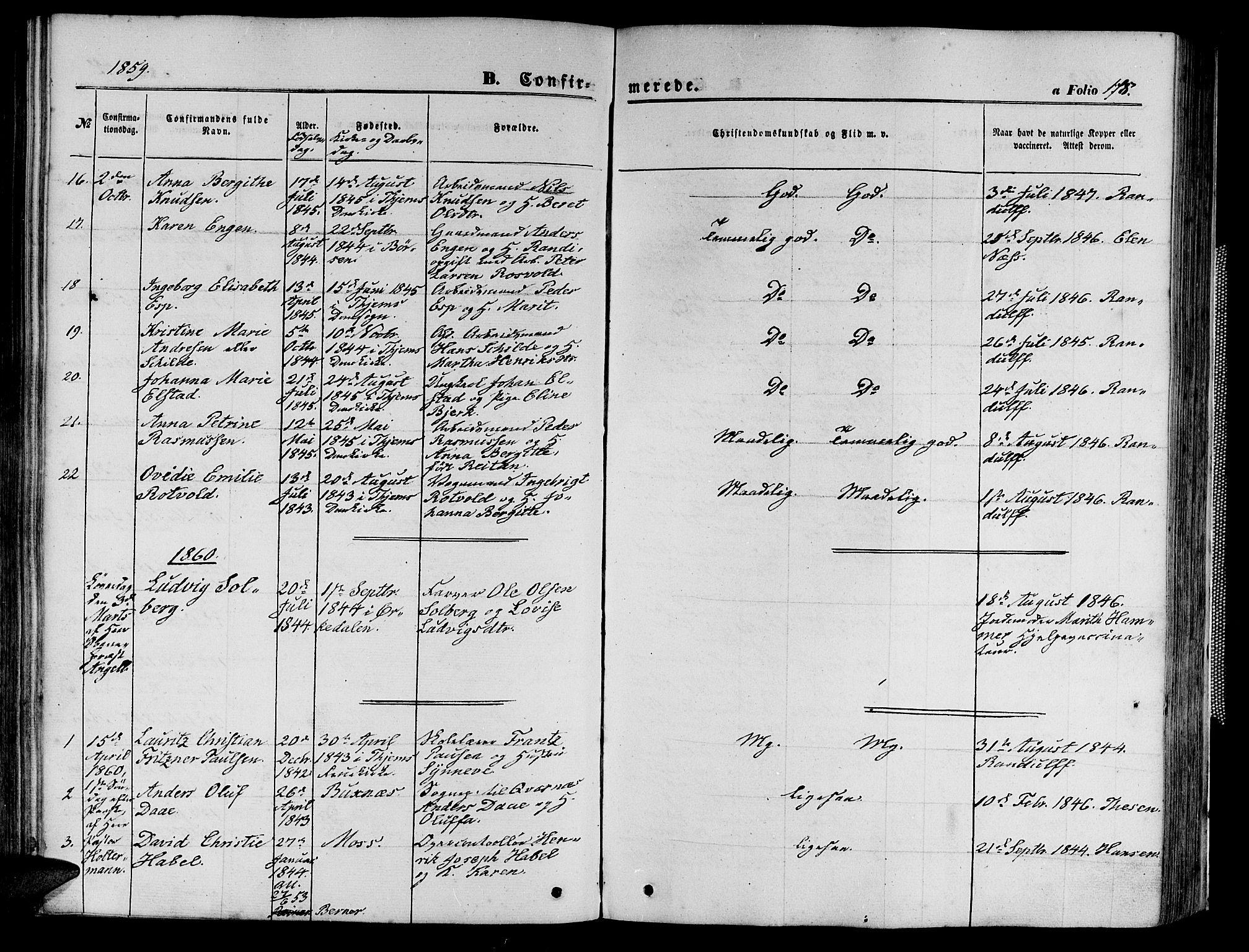 SAT, Ministerialprotokoller, klokkerbøker og fødselsregistre - Sør-Trøndelag, 602/L0139: Klokkerbok nr. 602C07, 1859-1864, s. 178