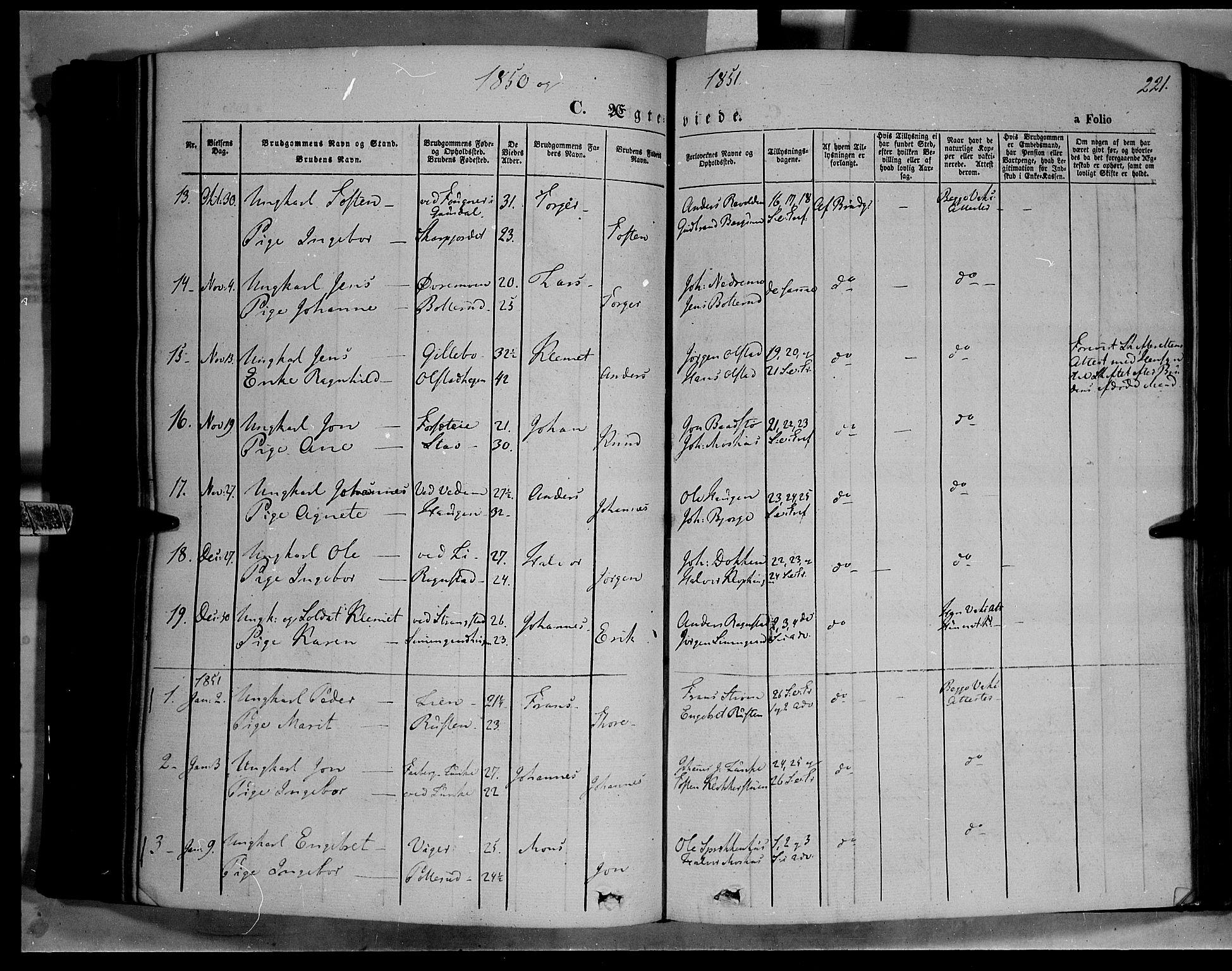 SAH, Øyer prestekontor, Ministerialbok nr. 5, 1842-1857, s. 221