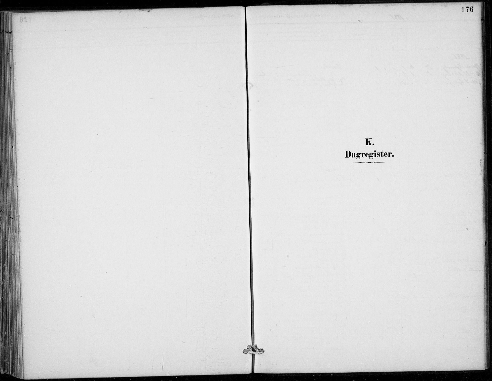 SAB, Strandebarm sokneprestembete, H/Haa: Ministerialbok nr. D  1, 1886-1912, s. 176