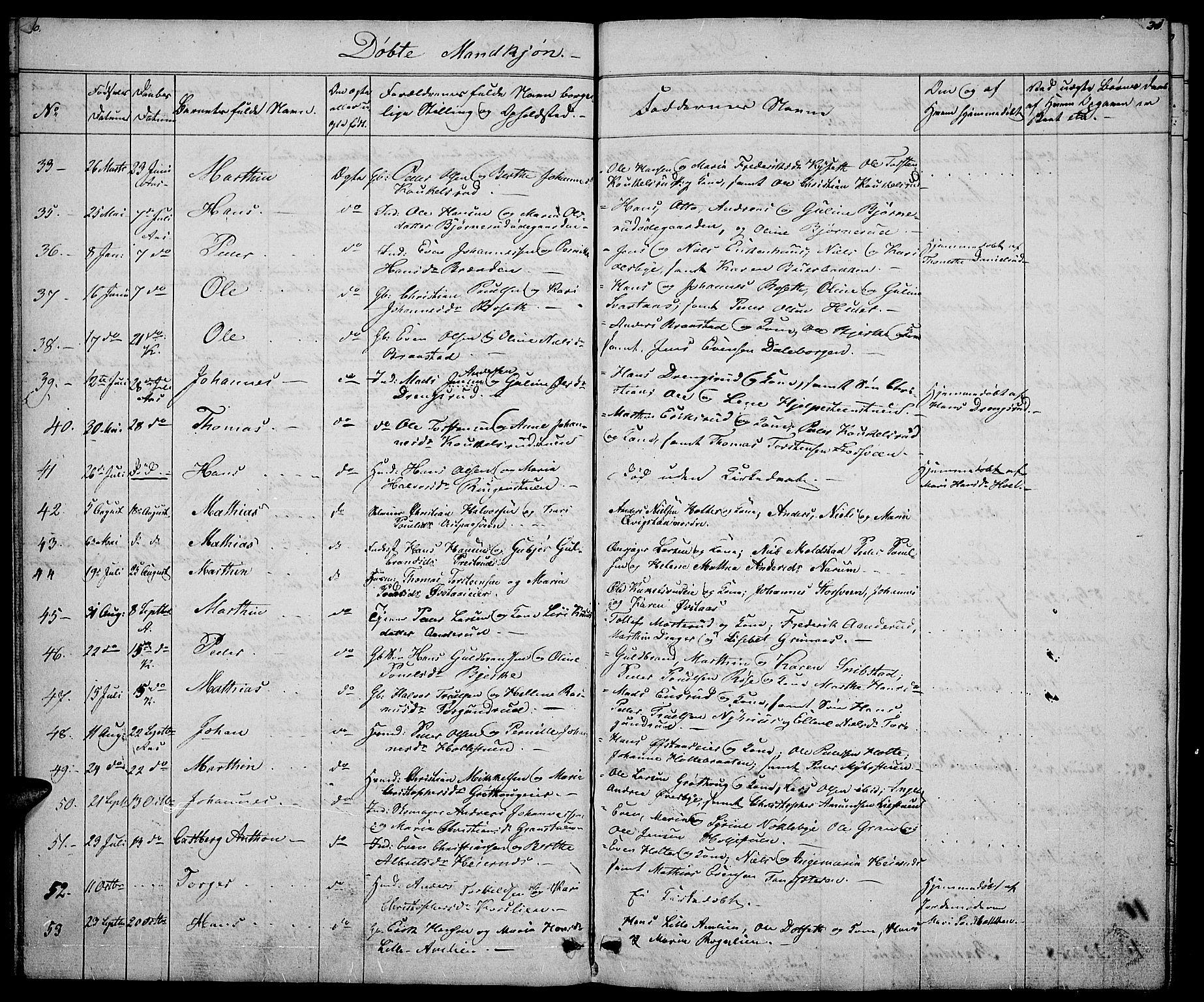 SAH, Vestre Toten prestekontor, H/Ha/Hab/L0002: Klokkerbok nr. 2, 1836-1848, s. 30-31